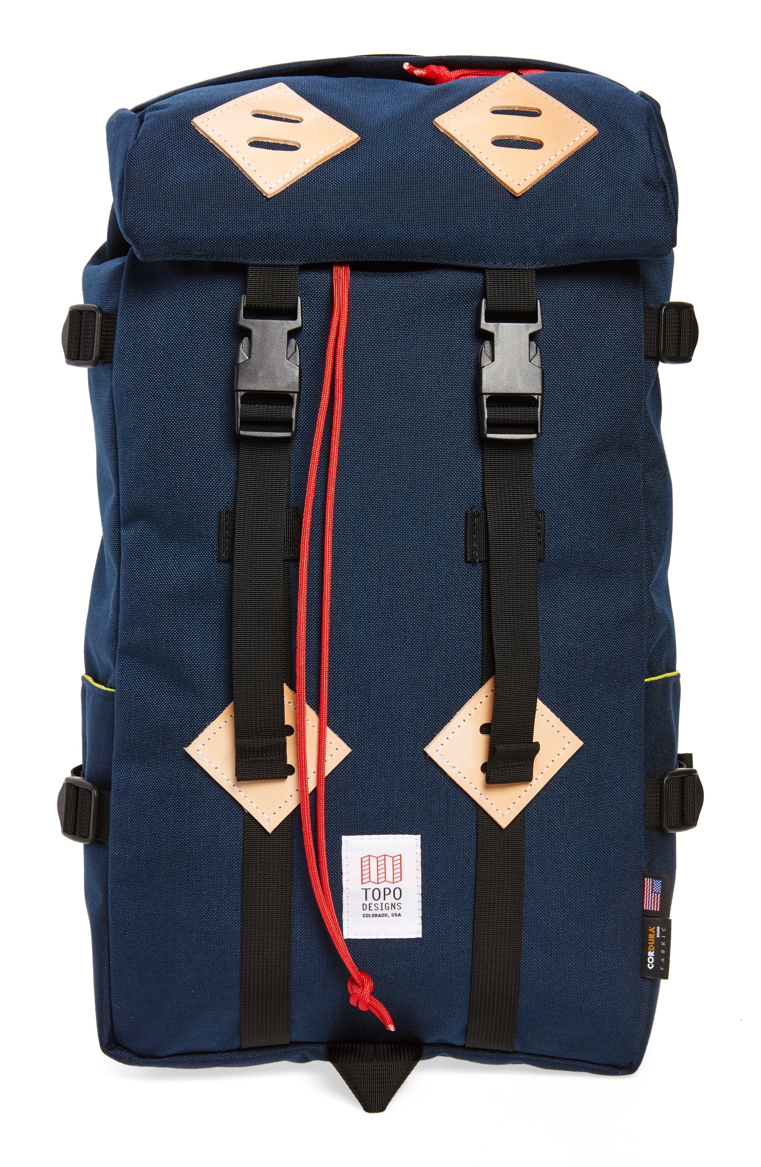 'Klettersack' Backpack,                         Main,                         color, Navy