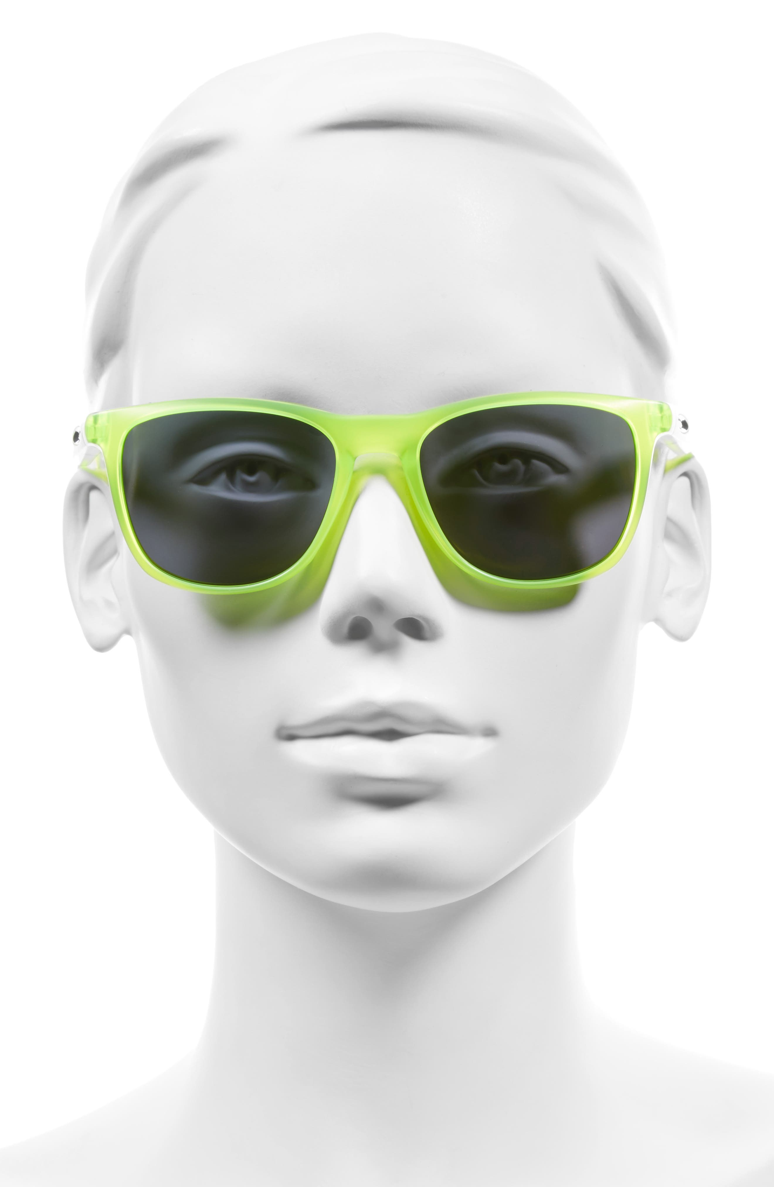 Trillbe X 52mm Sunglasses,                             Alternate thumbnail 2, color,                             Uranium/ Emerald Iridium