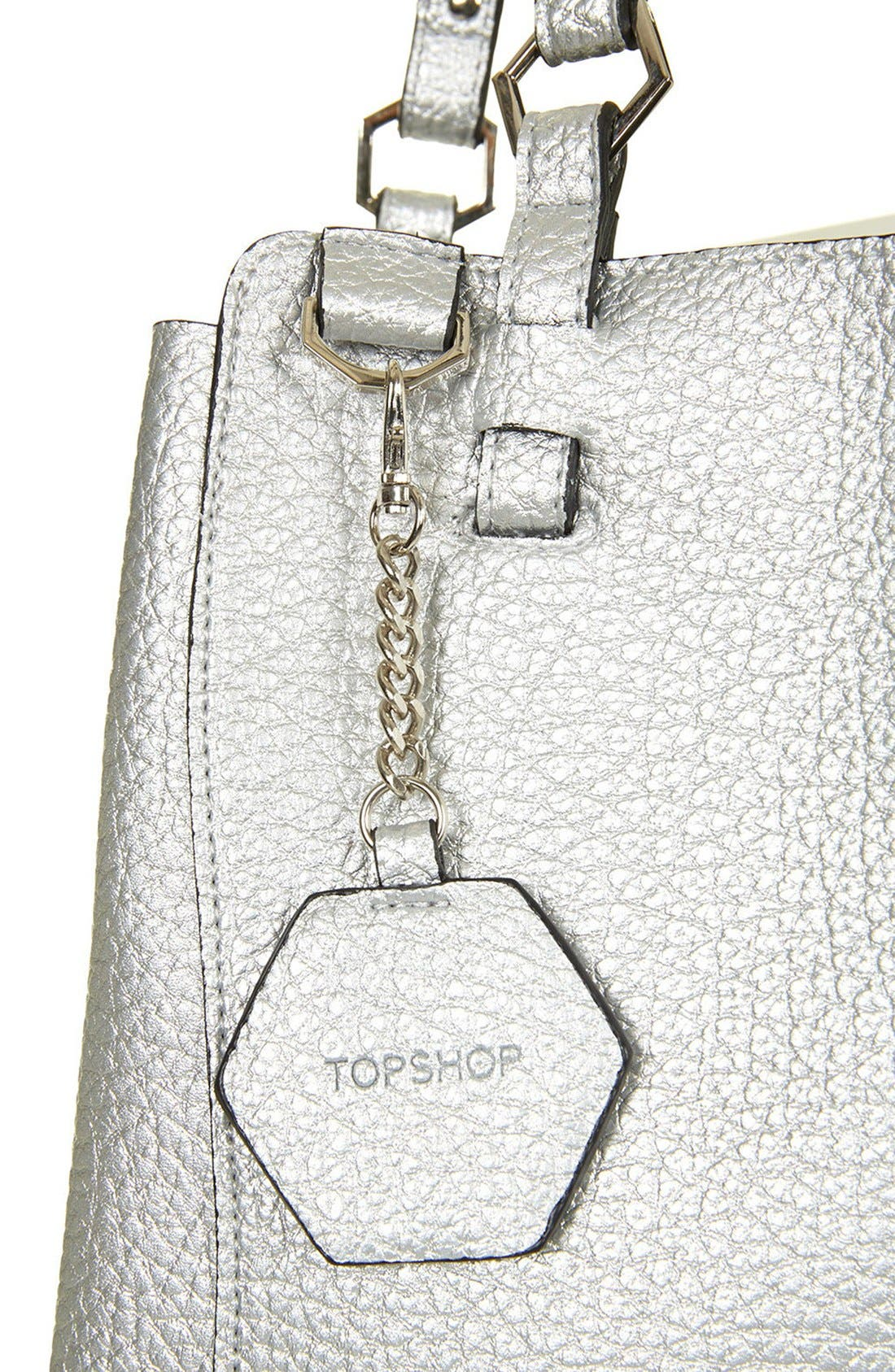 Alternate Image 4  - Topshop 'Hex' Faux Leather Tote