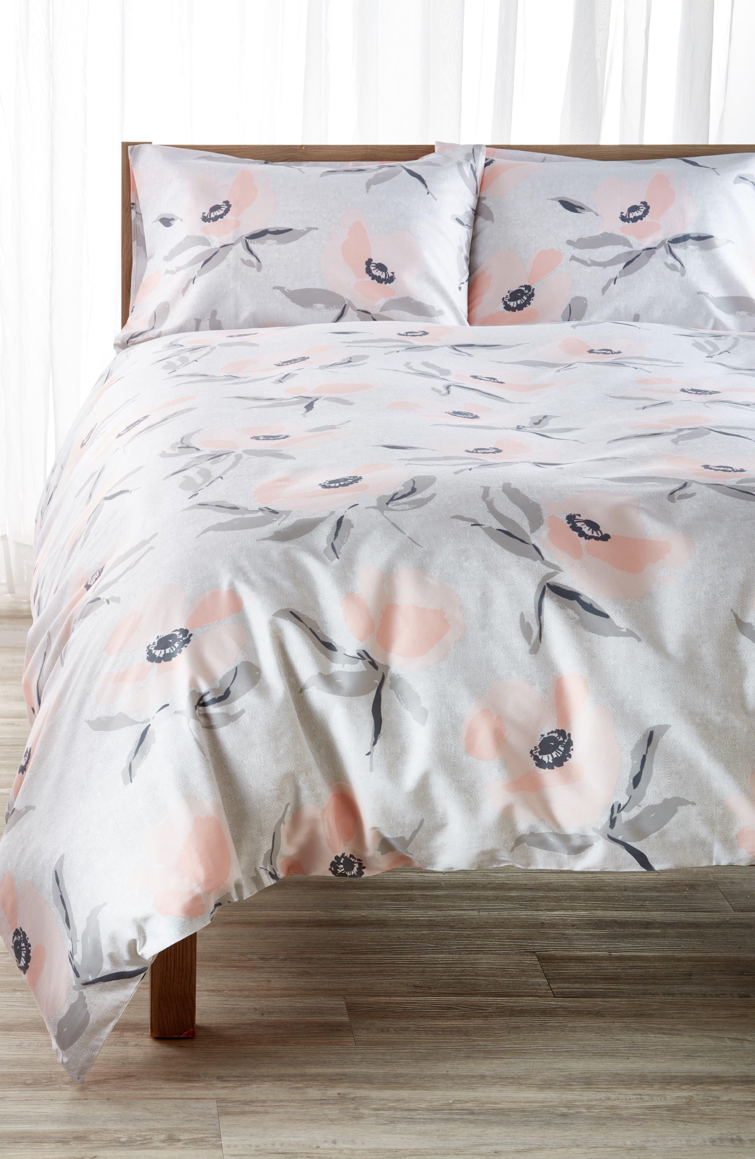 kate spade new york poppies comforter & sham set