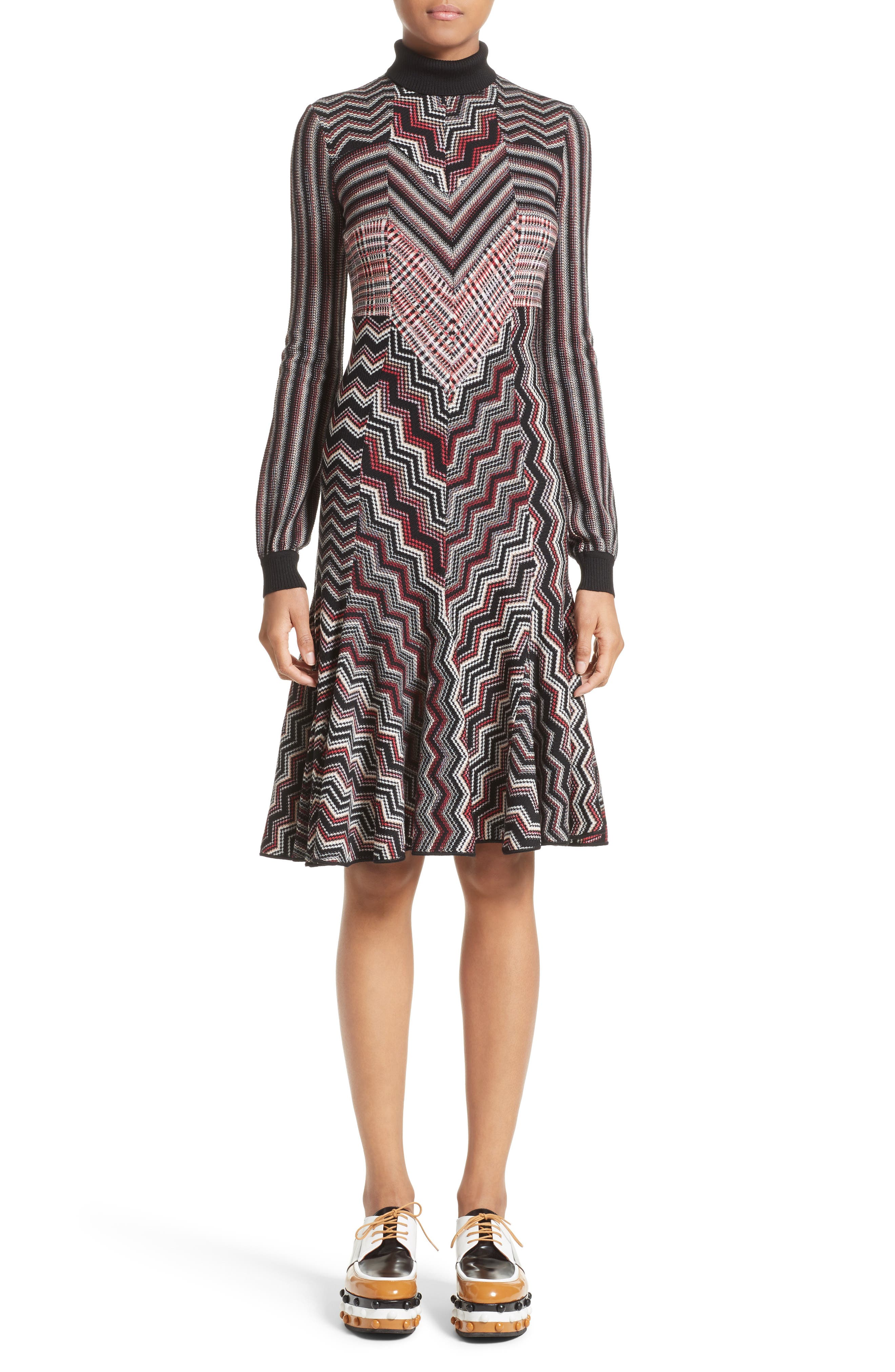 Alternate Image 1 Selected - Missoni Patchwork Wool Blend Knit Dress