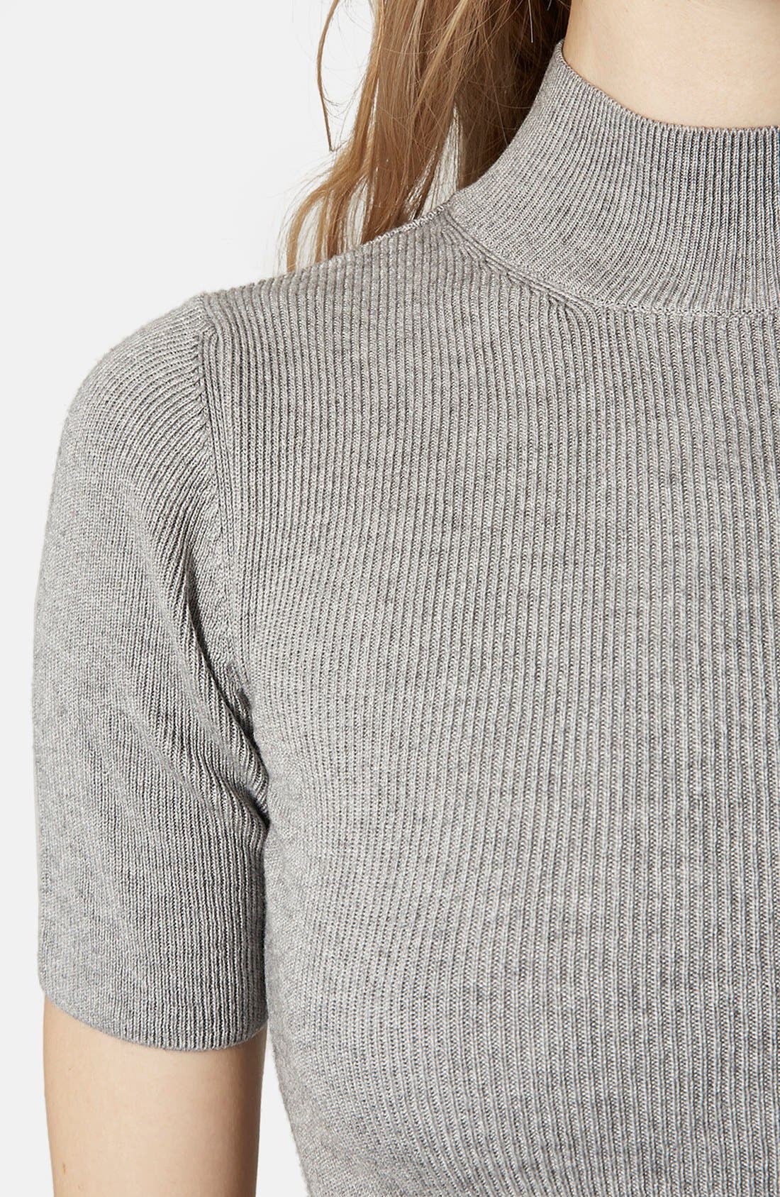 Alternate Image 4  - Topshop Funnel Neck Crop Tee