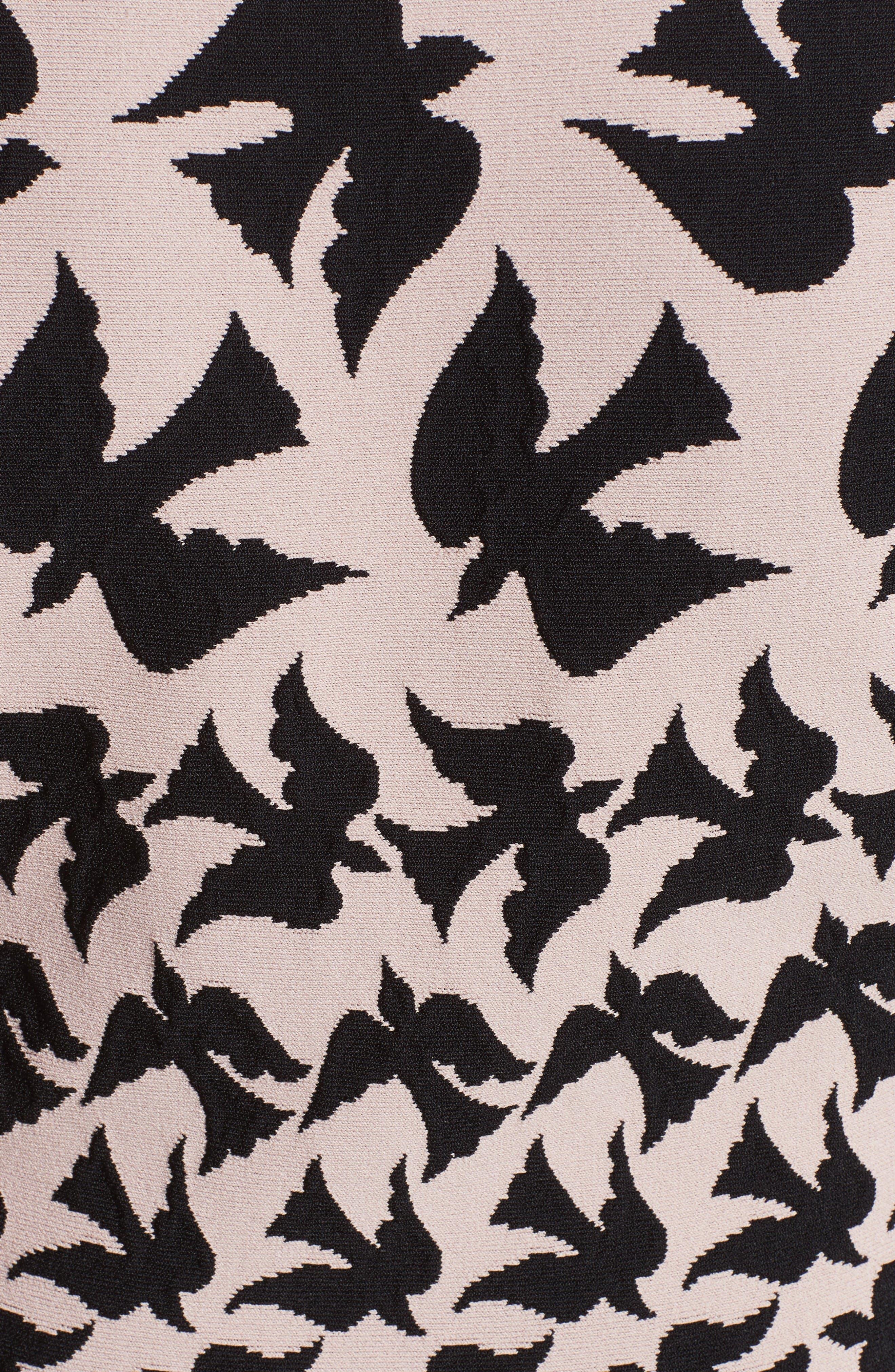 Alternate Image 2  - Alexander McQueen Swallow Jacquard Dress