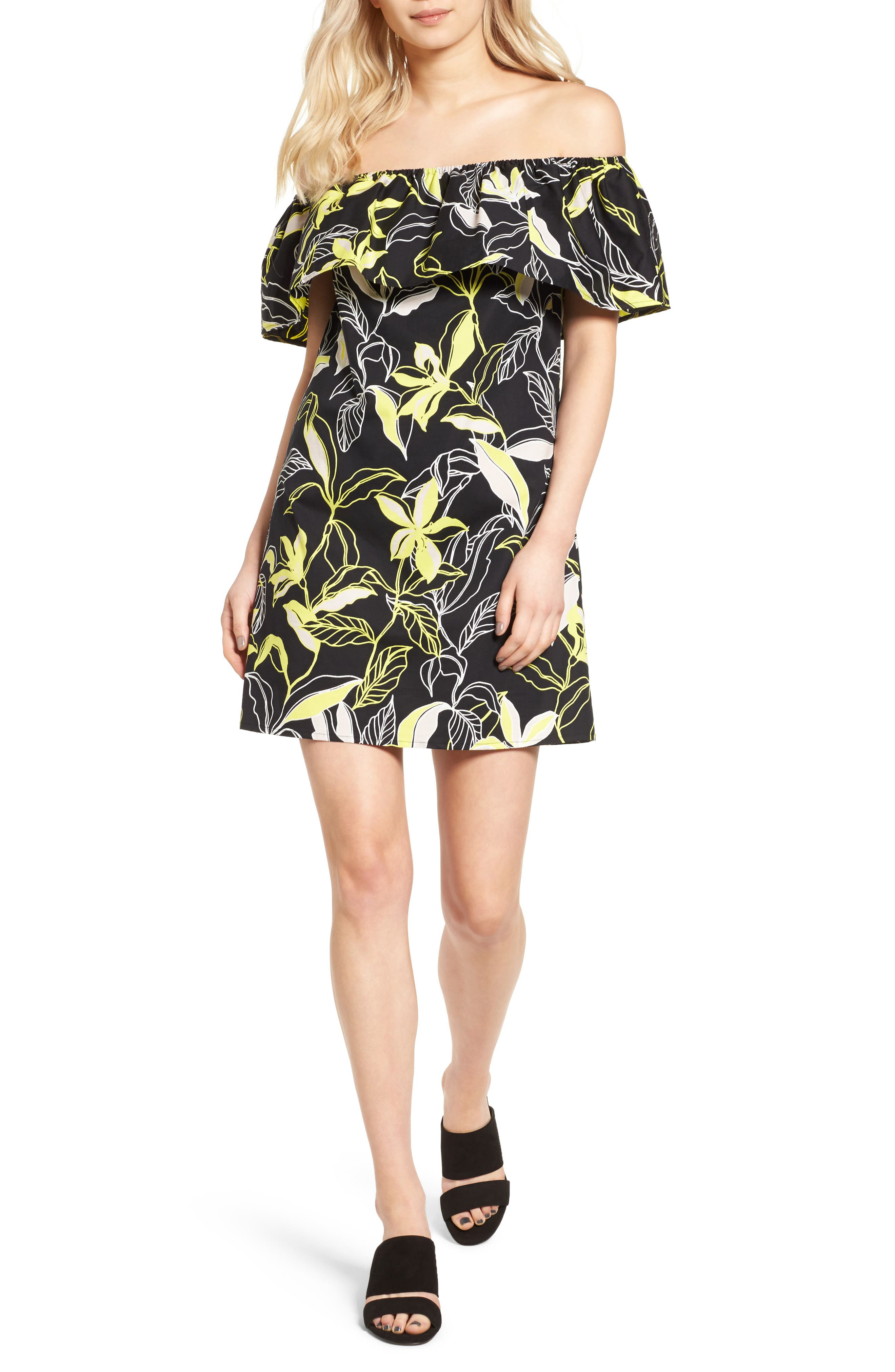 Splendid Tropic Floral Shift Dress