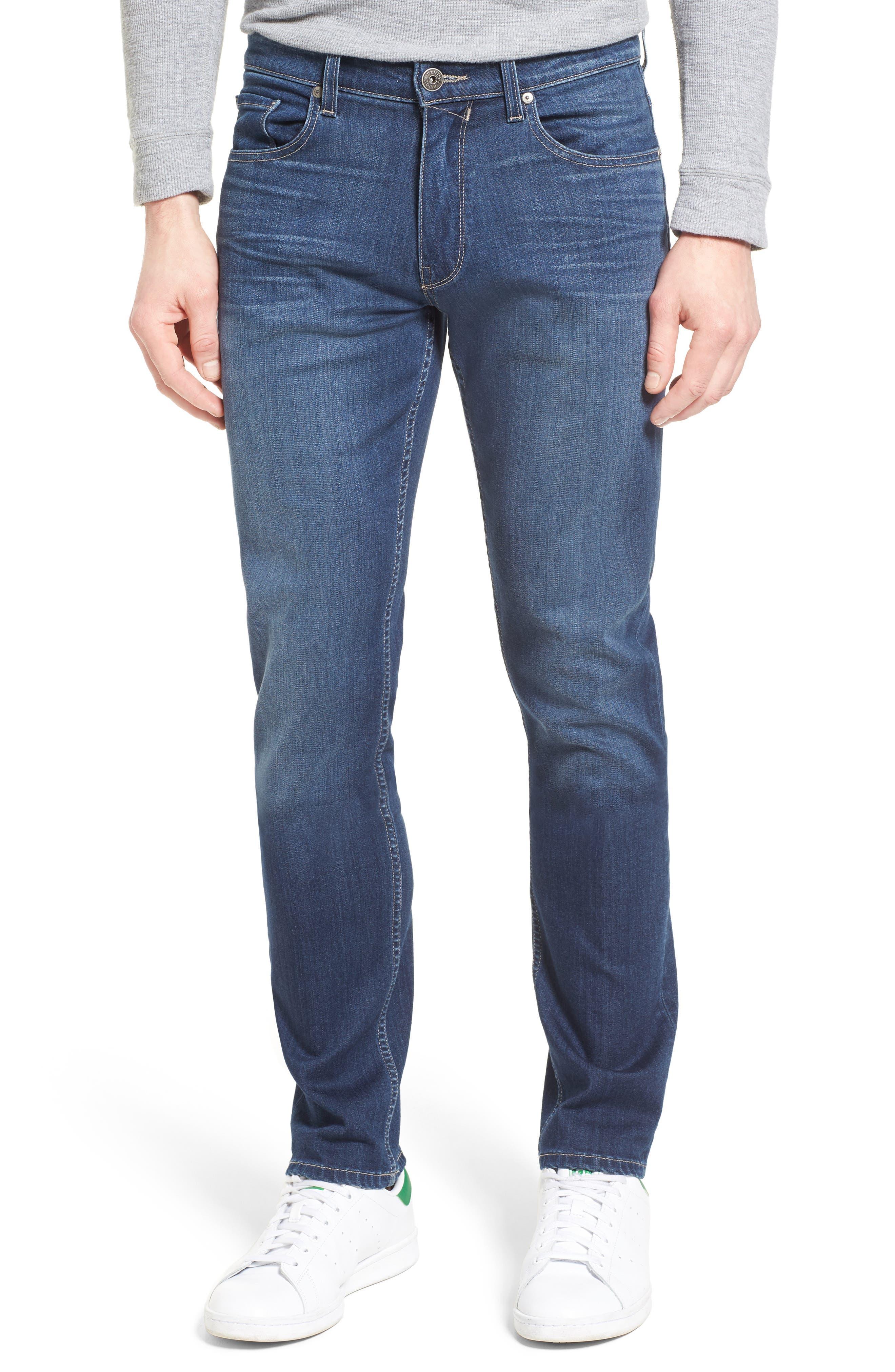 Main Image - PAIGE Transcend - Lennox Straight Leg Jeans (Leo)