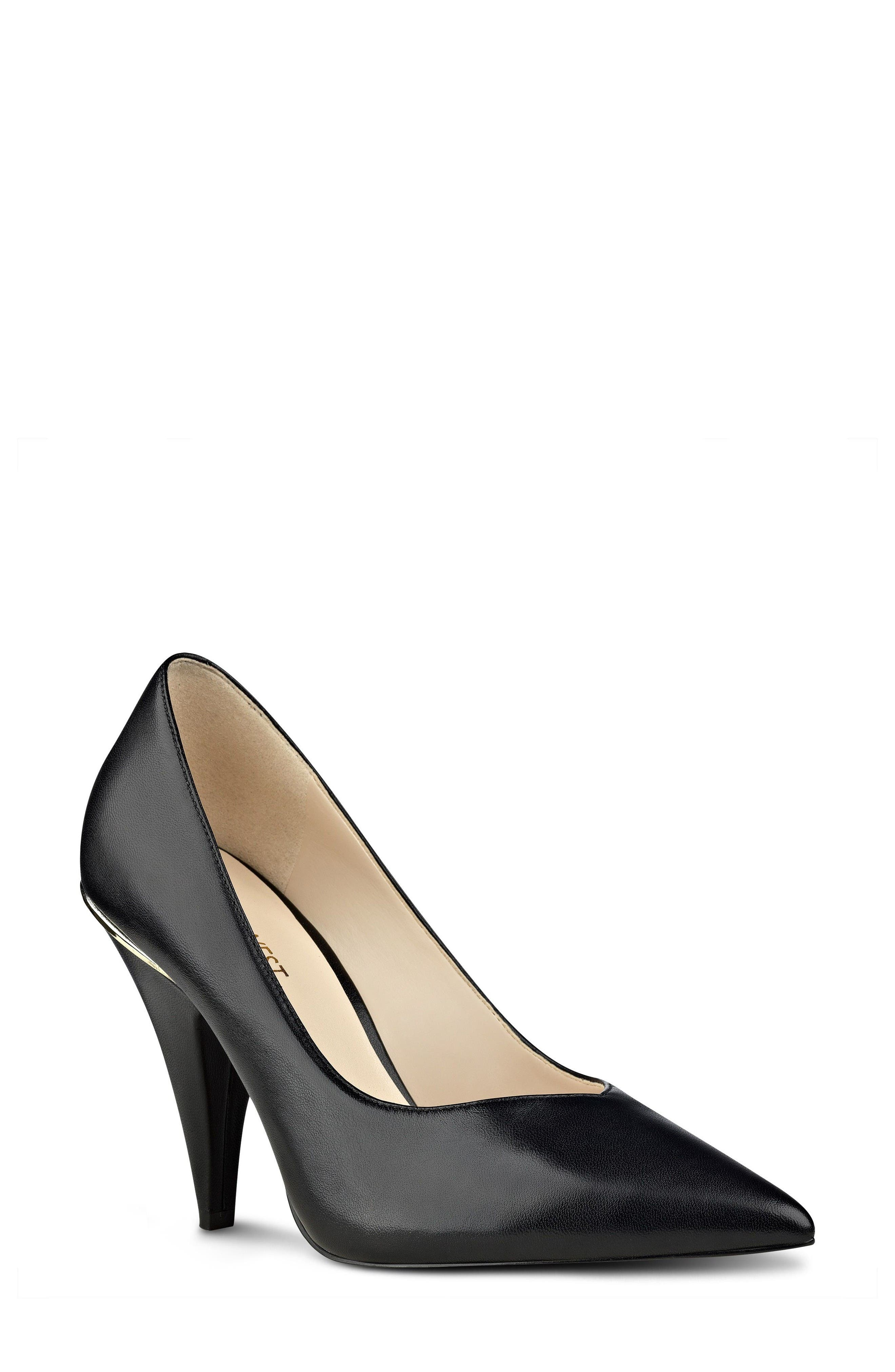 Whistles Pump,                         Main,                         color, Black Leather
