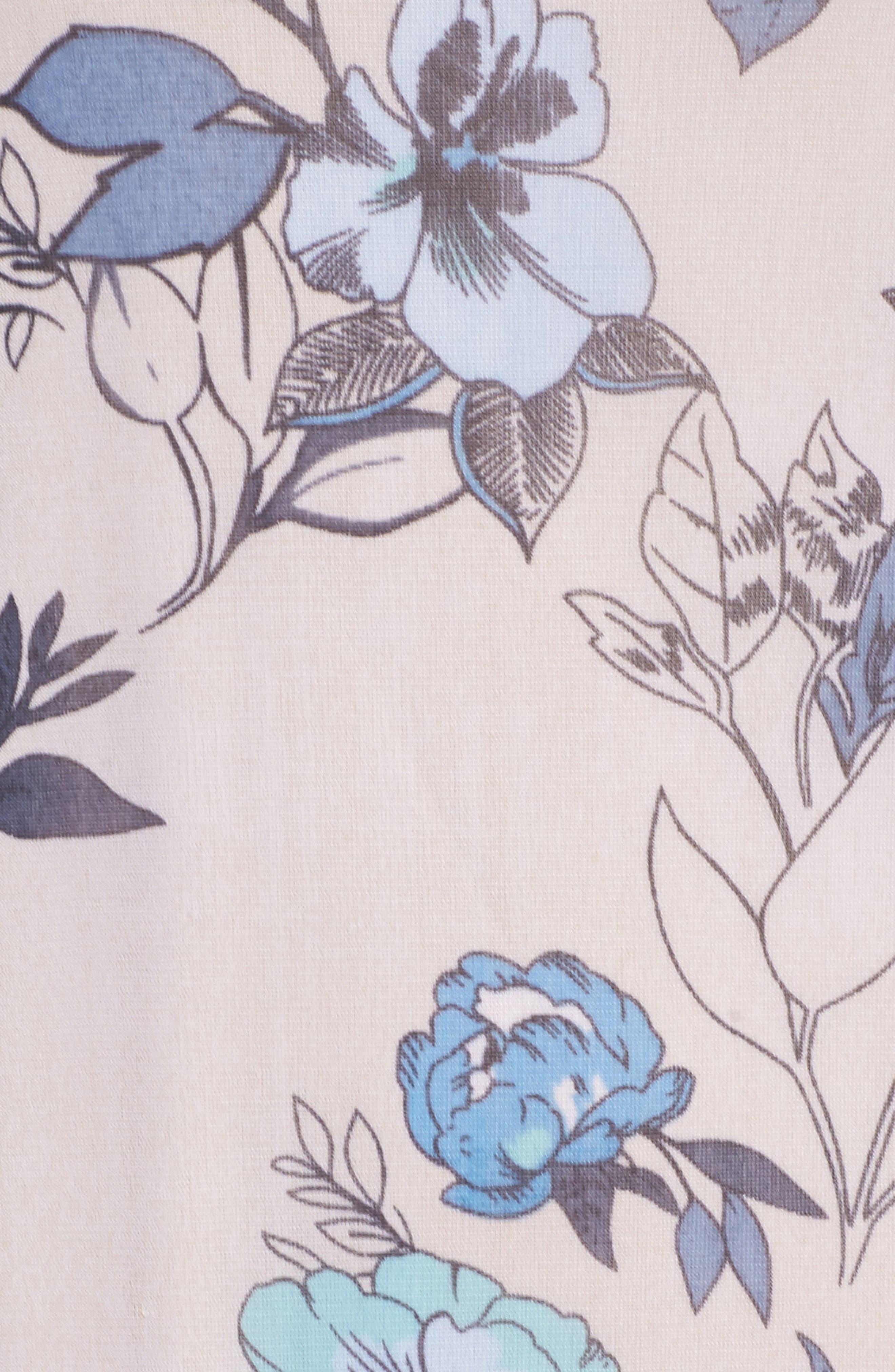 Floral Maxi Dress,                             Alternate thumbnail 5, color,                             Porcelain
