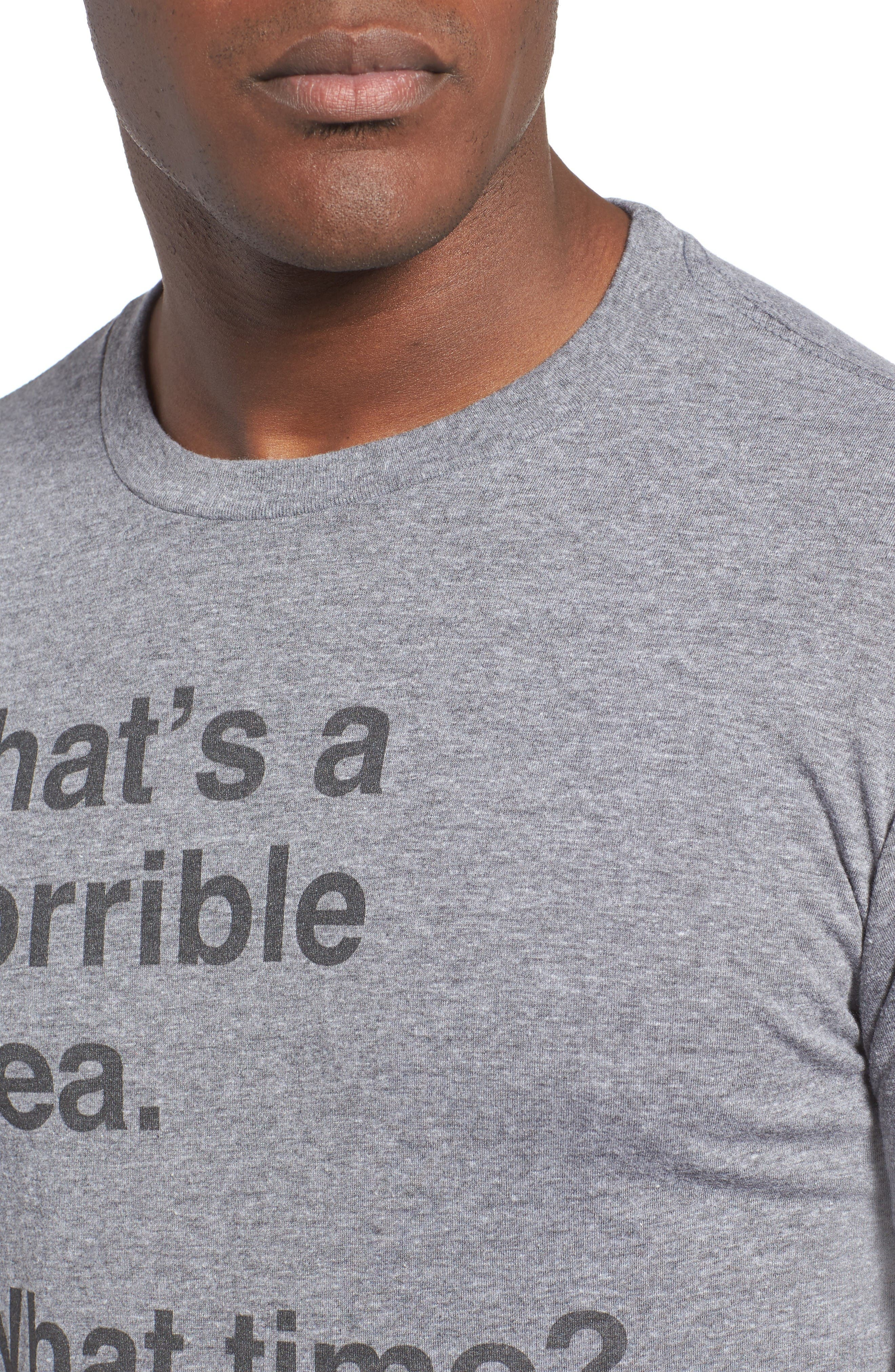Horrible Idea Graphic T-Shirt,                             Alternate thumbnail 4, color,                             Med Grey