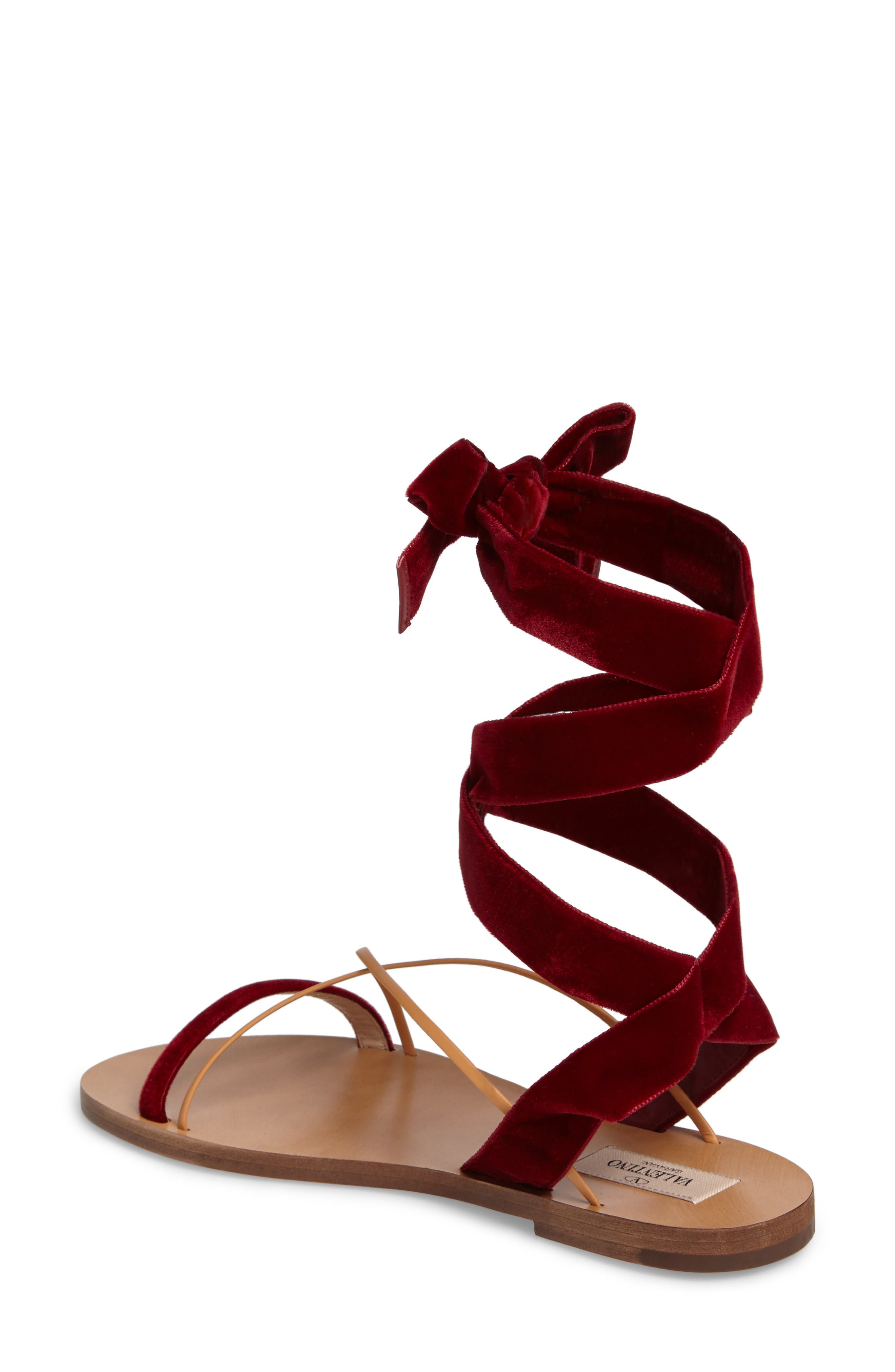 Alternate Image 2  - Valentino Lace-up Sandal (Women)