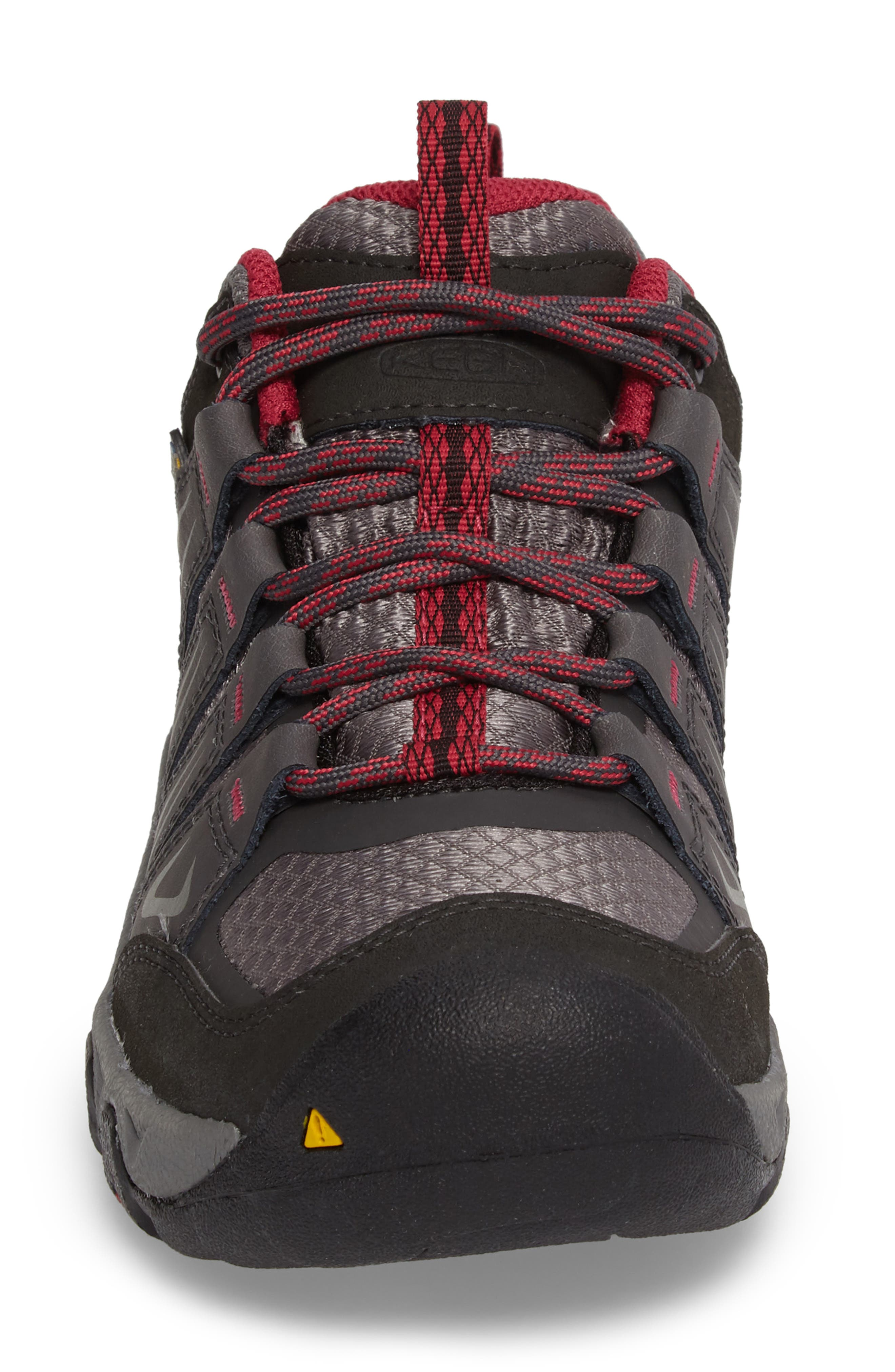 Oakridge Waterproof Hiking Shoe,                             Alternate thumbnail 4, color,                             Magnet/ Rose Fabric