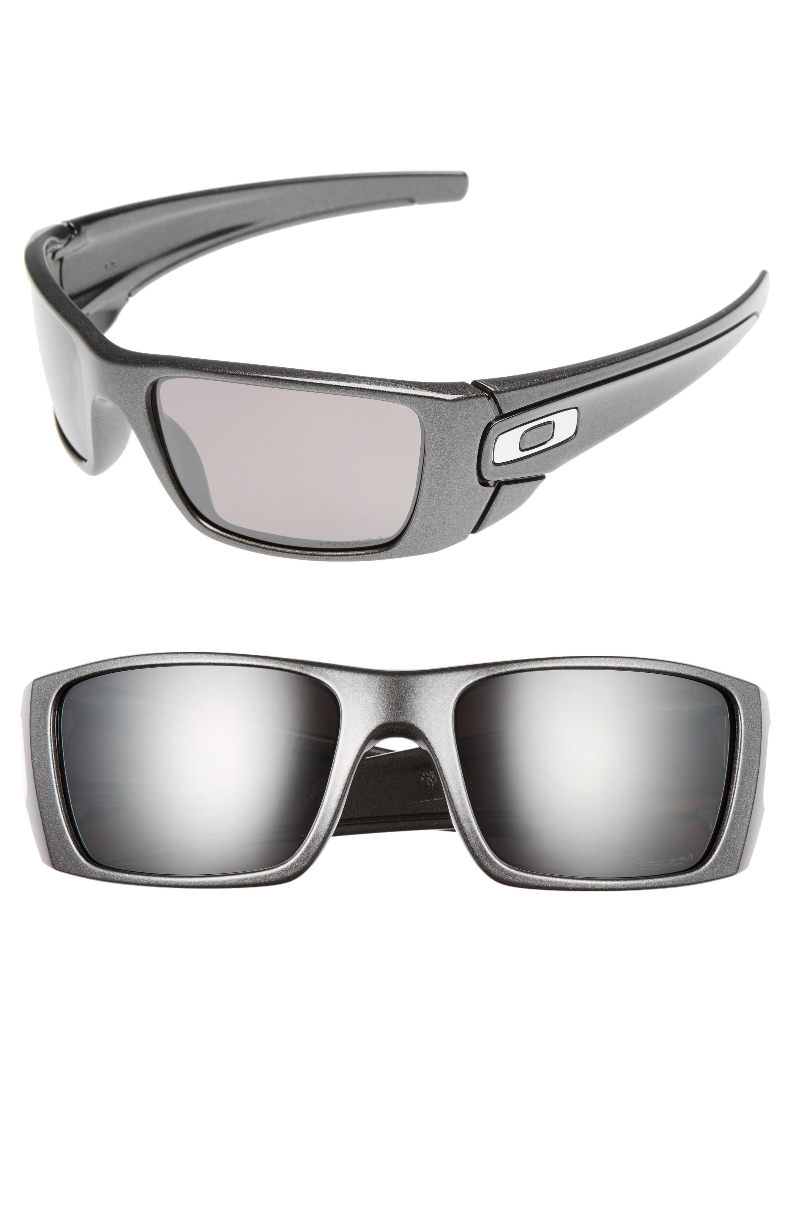 Fuel Cell 60mm Polarized Sunglasses,                             Main thumbnail 1, color,                             Grey