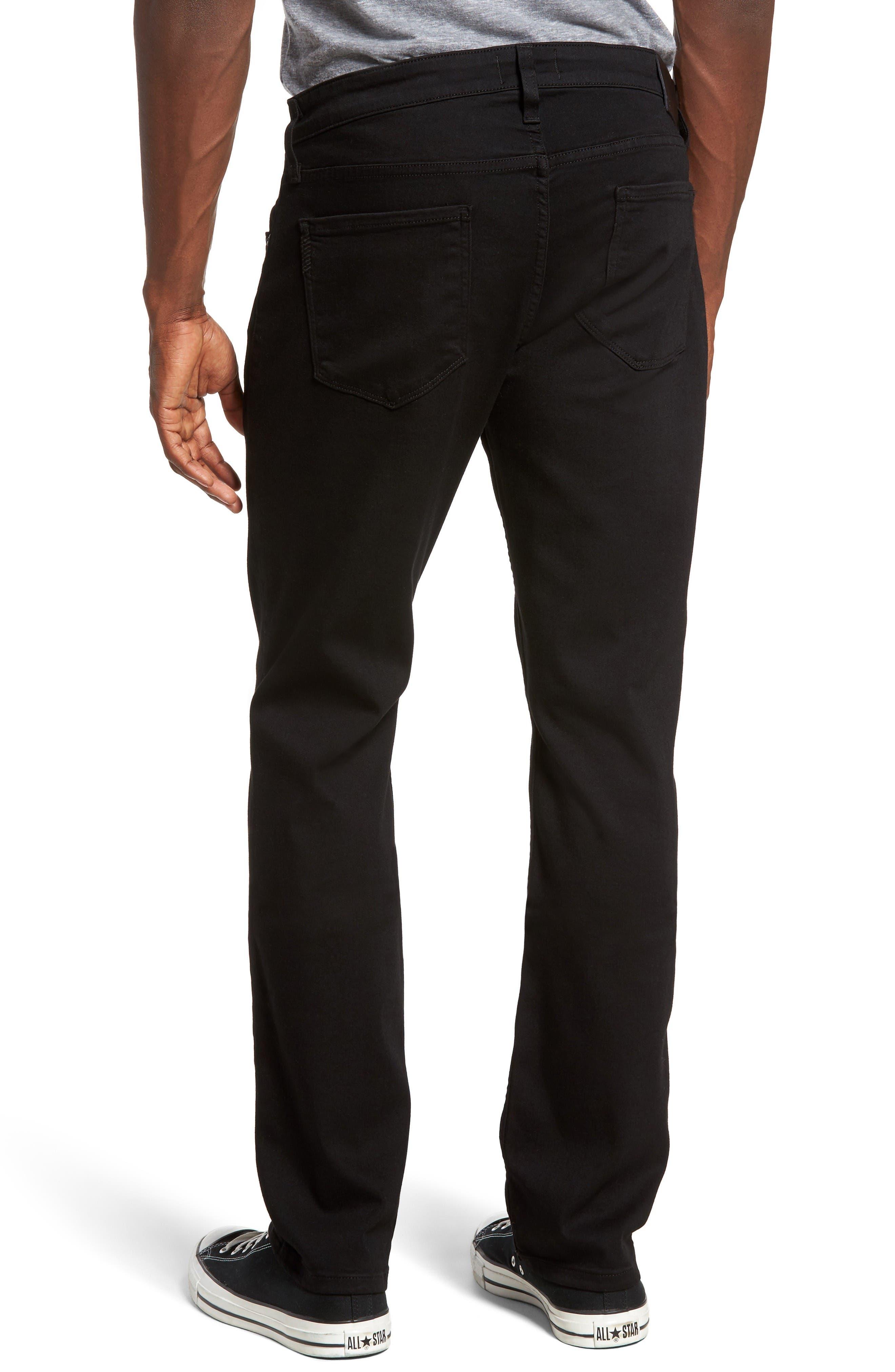 Federal Slim Straight Leg Jeans,                             Alternate thumbnail 2, color,                             Black Shadow