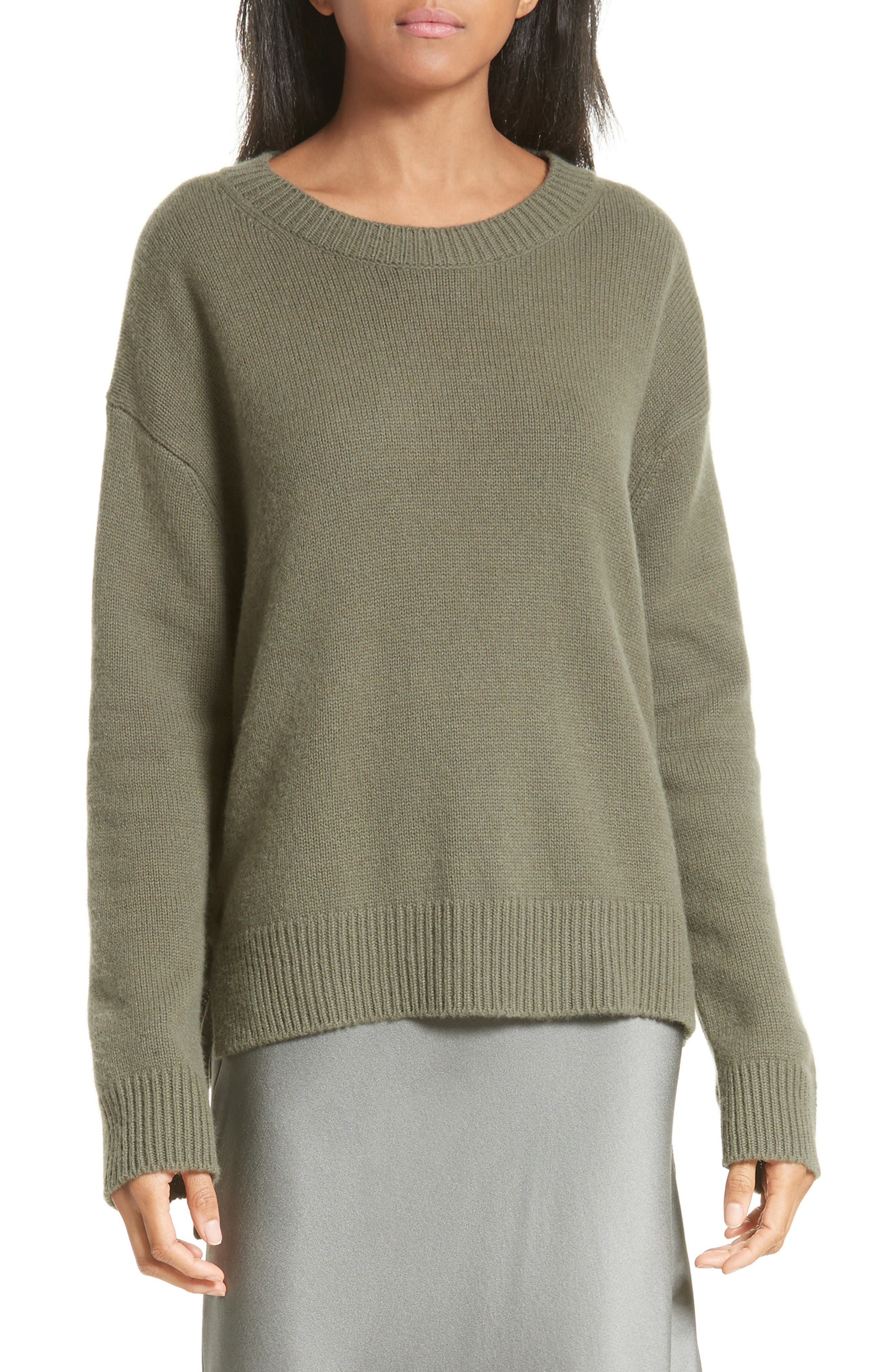 Vince Lace Up Cashmere Pullover
