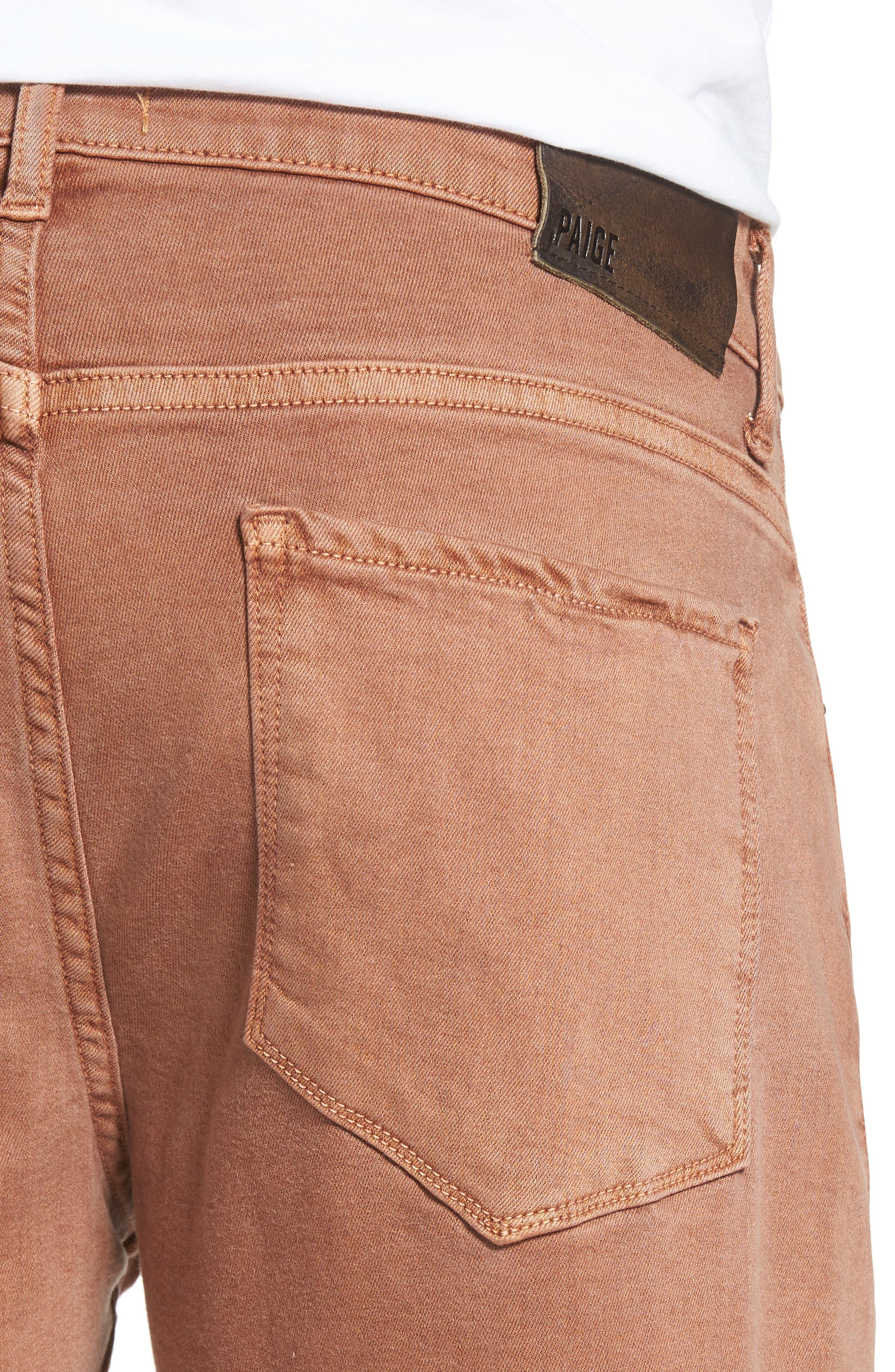 Alternate Image 4  - PAIGE Transcend - Federal Slim Straight Leg Jeans (Vintage Bronzed)