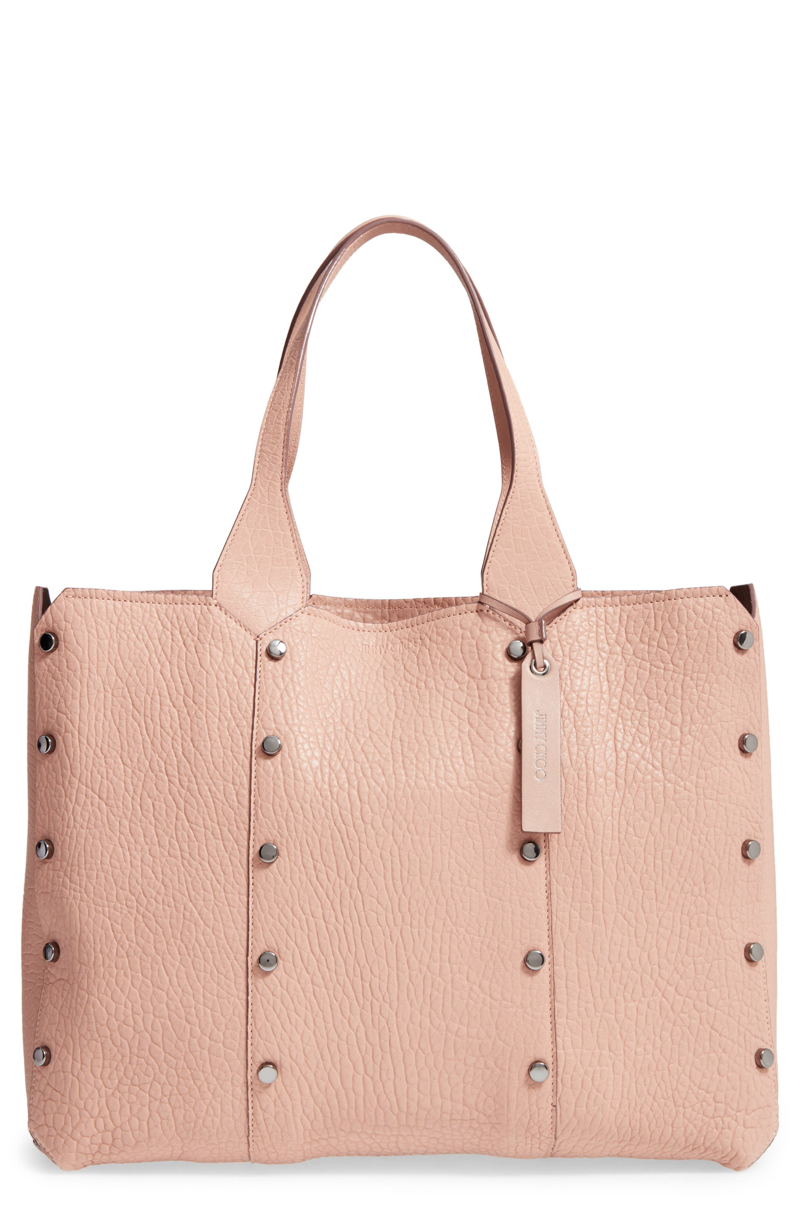 Lockett Leather Shopper,                         Main,                         color, Ballet Pink