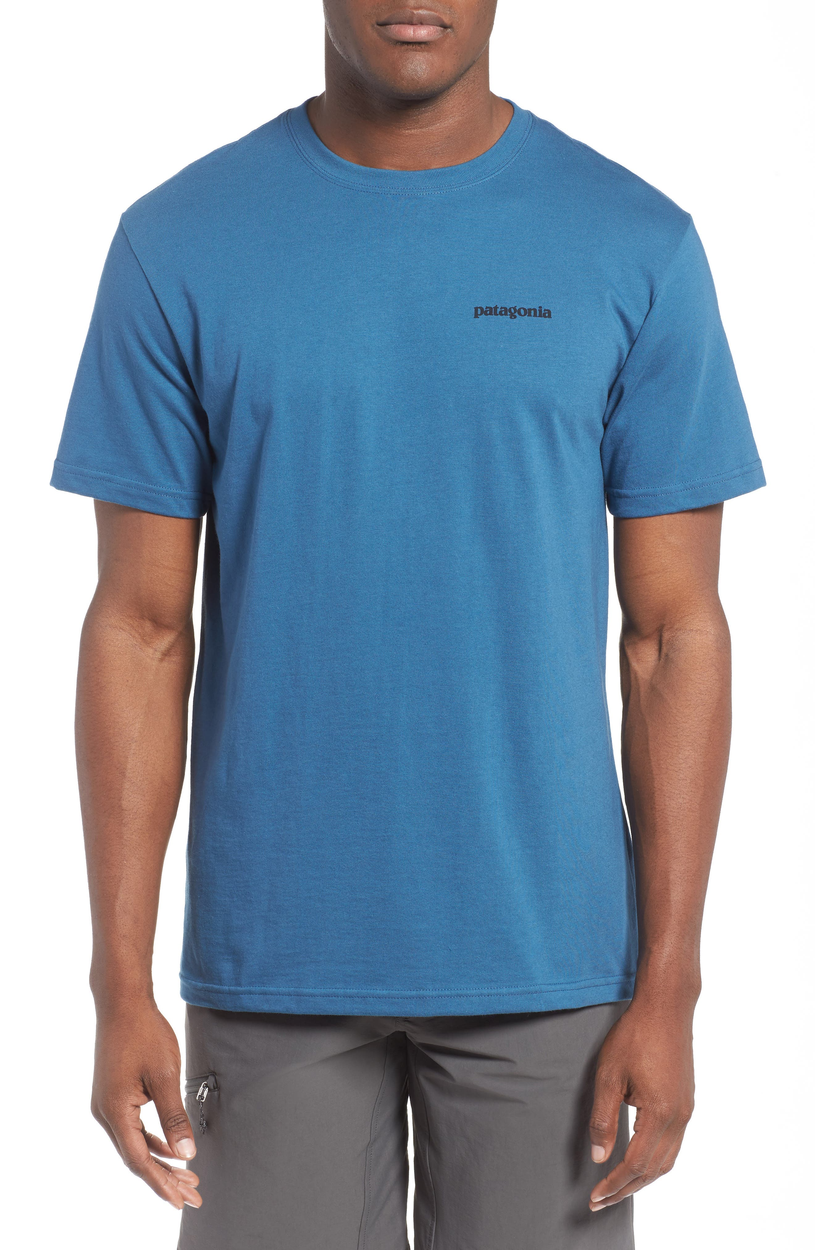'P-6 Logo' Organic Cotton T-Shirt,                             Alternate thumbnail 2, color,                             Glass Blue