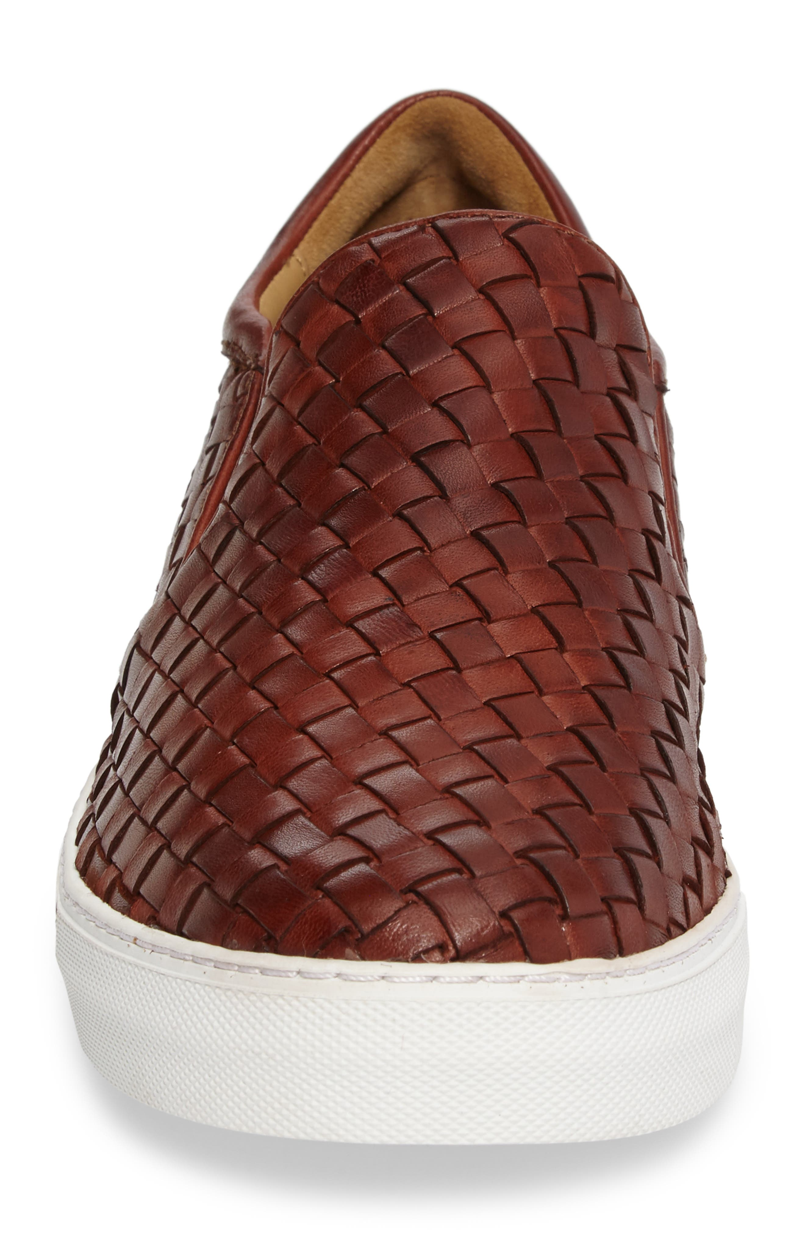 James Slip-On,                             Alternate thumbnail 4, color,                             Dark Luggage Leather
