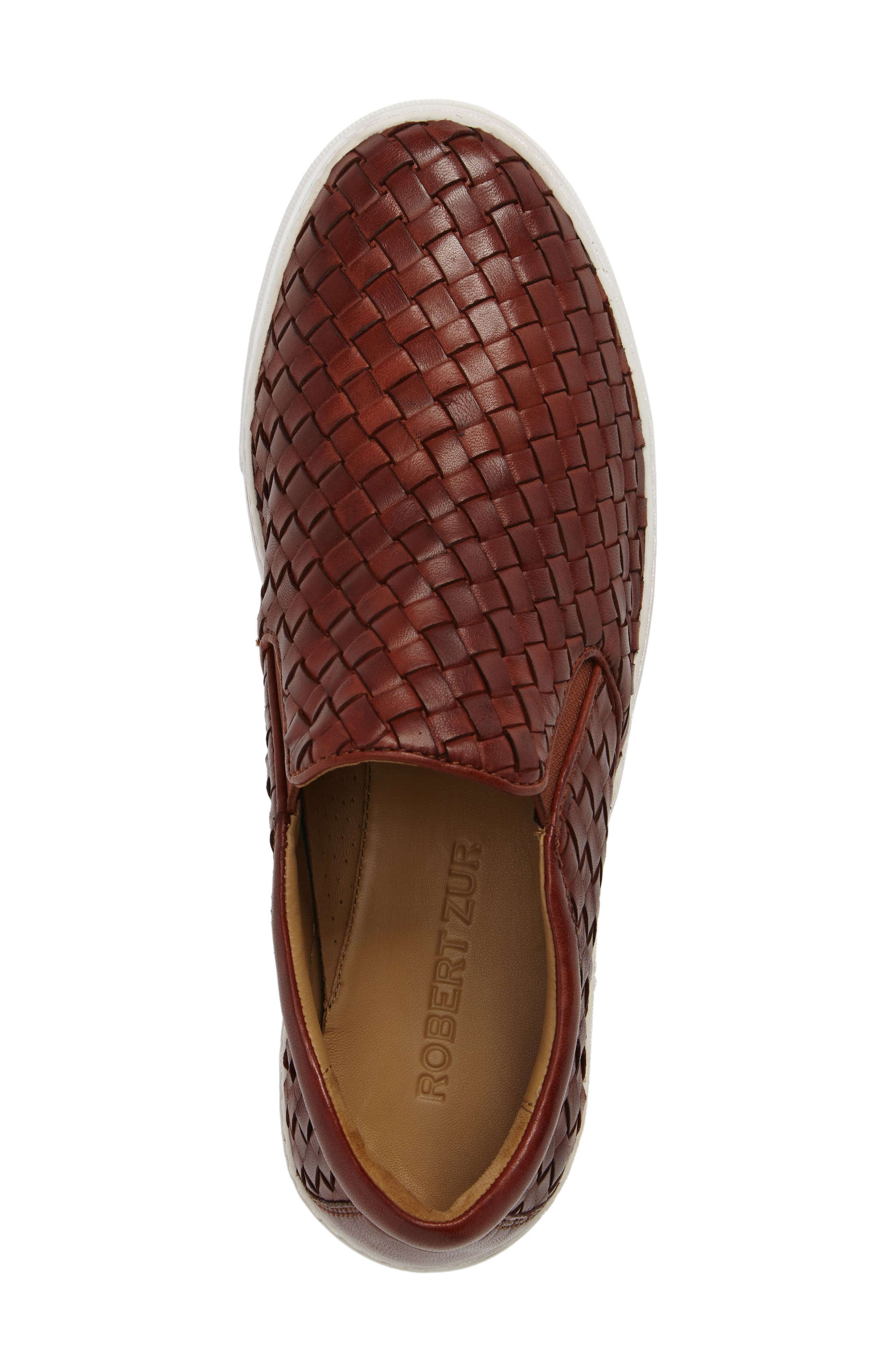 James Slip-On,                             Alternate thumbnail 5, color,                             Dark Luggage Leather