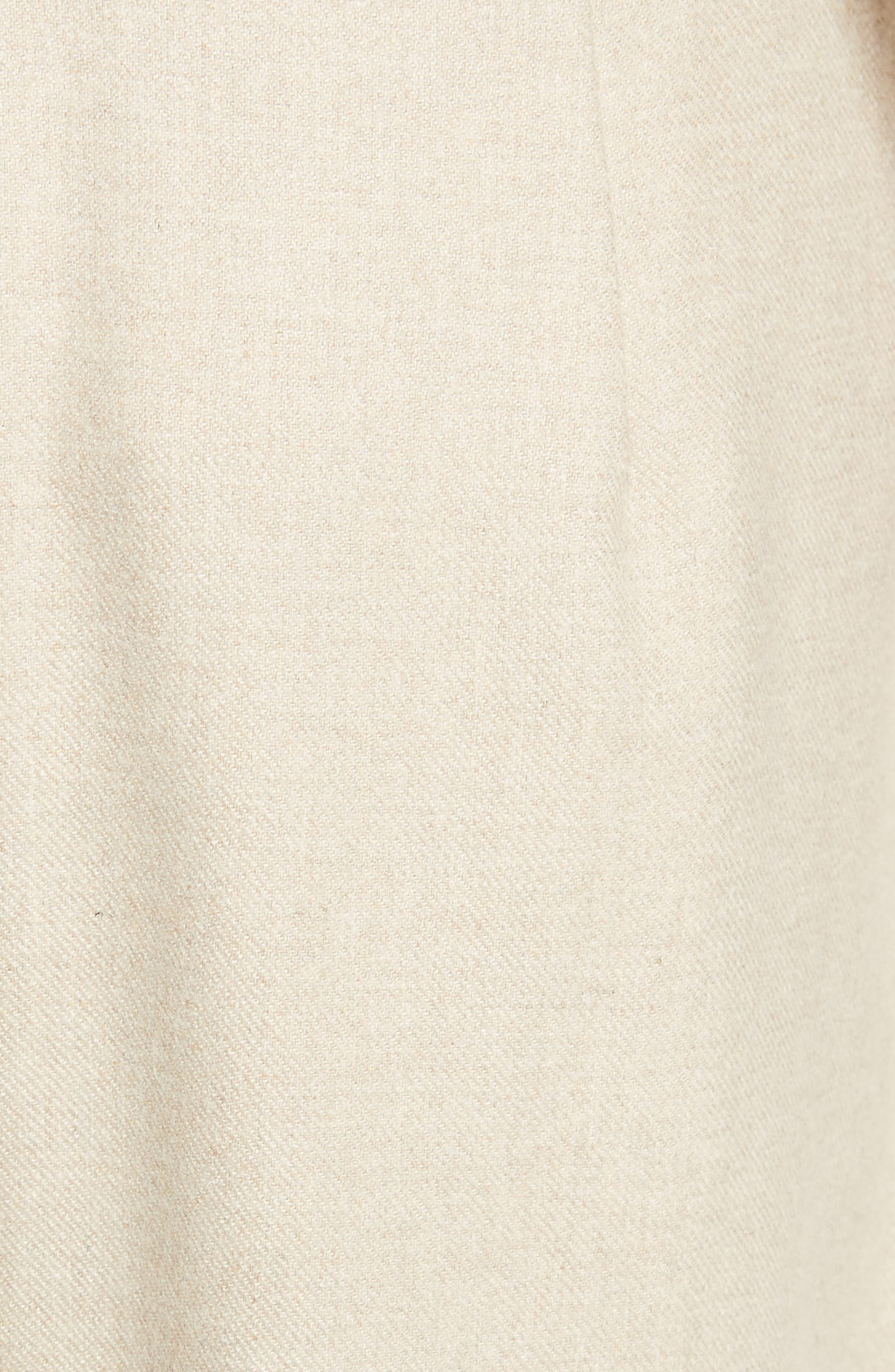 Wilson Twill Midi Skirt,                             Alternate thumbnail 6, color,                             Oatmeal