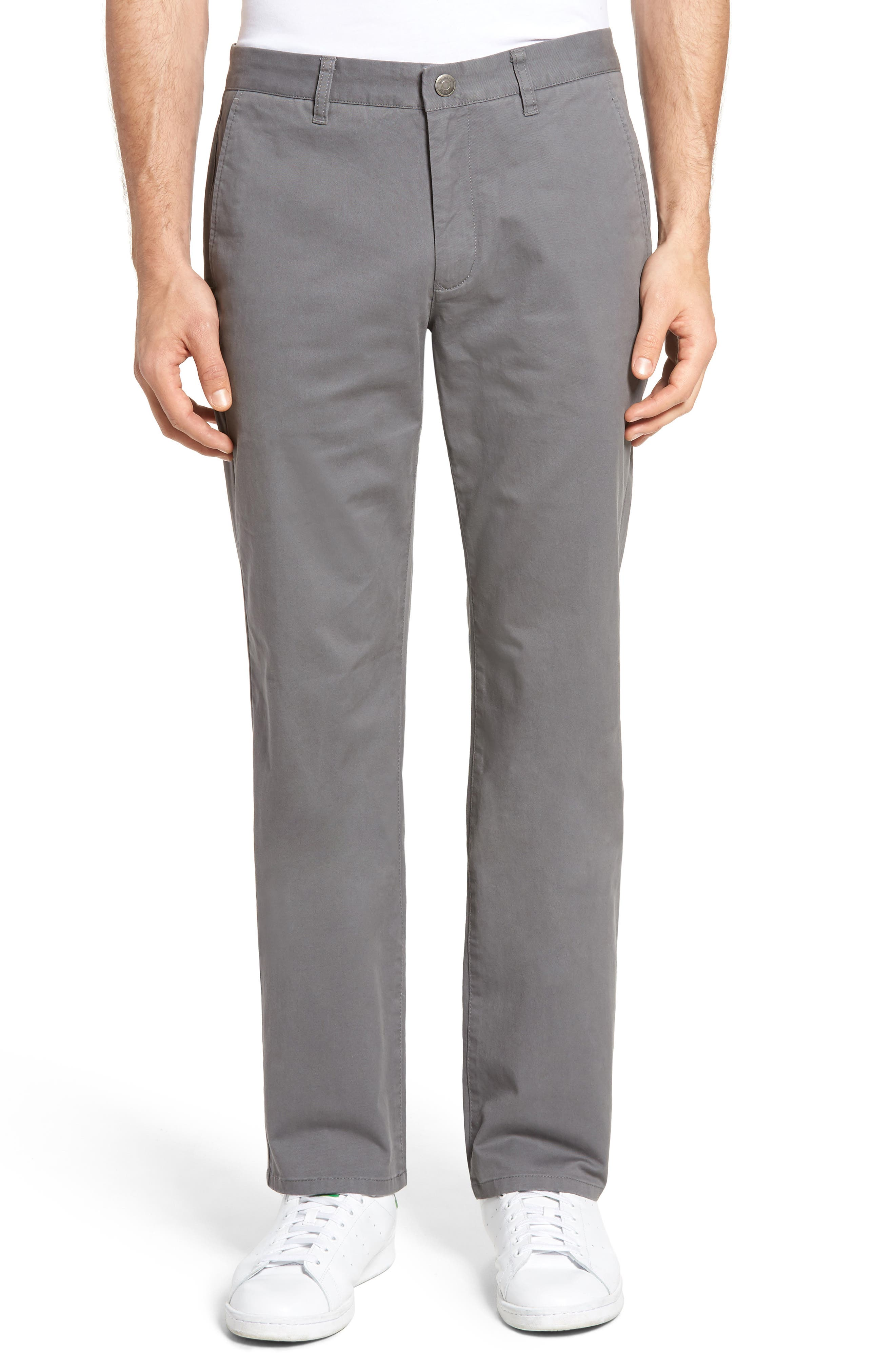 Straight Leg Stretch Washed Chinos,                             Main thumbnail 1, color,                             Castle Rock