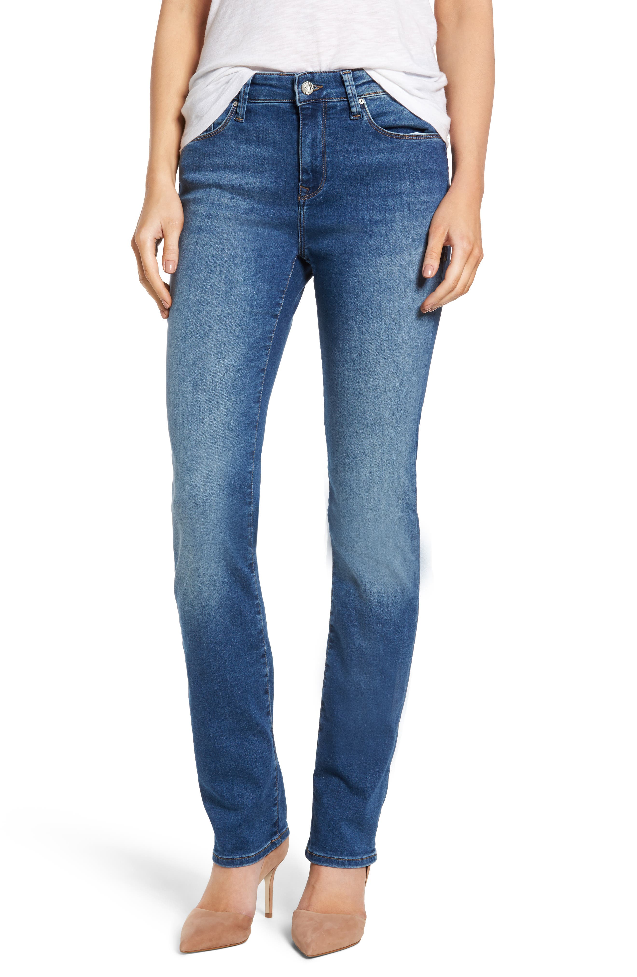 Alternate Image 1 Selected - Mavi Jeans Kendra High Waist Stretch Denim Jeans (Mid Soft Shanti)