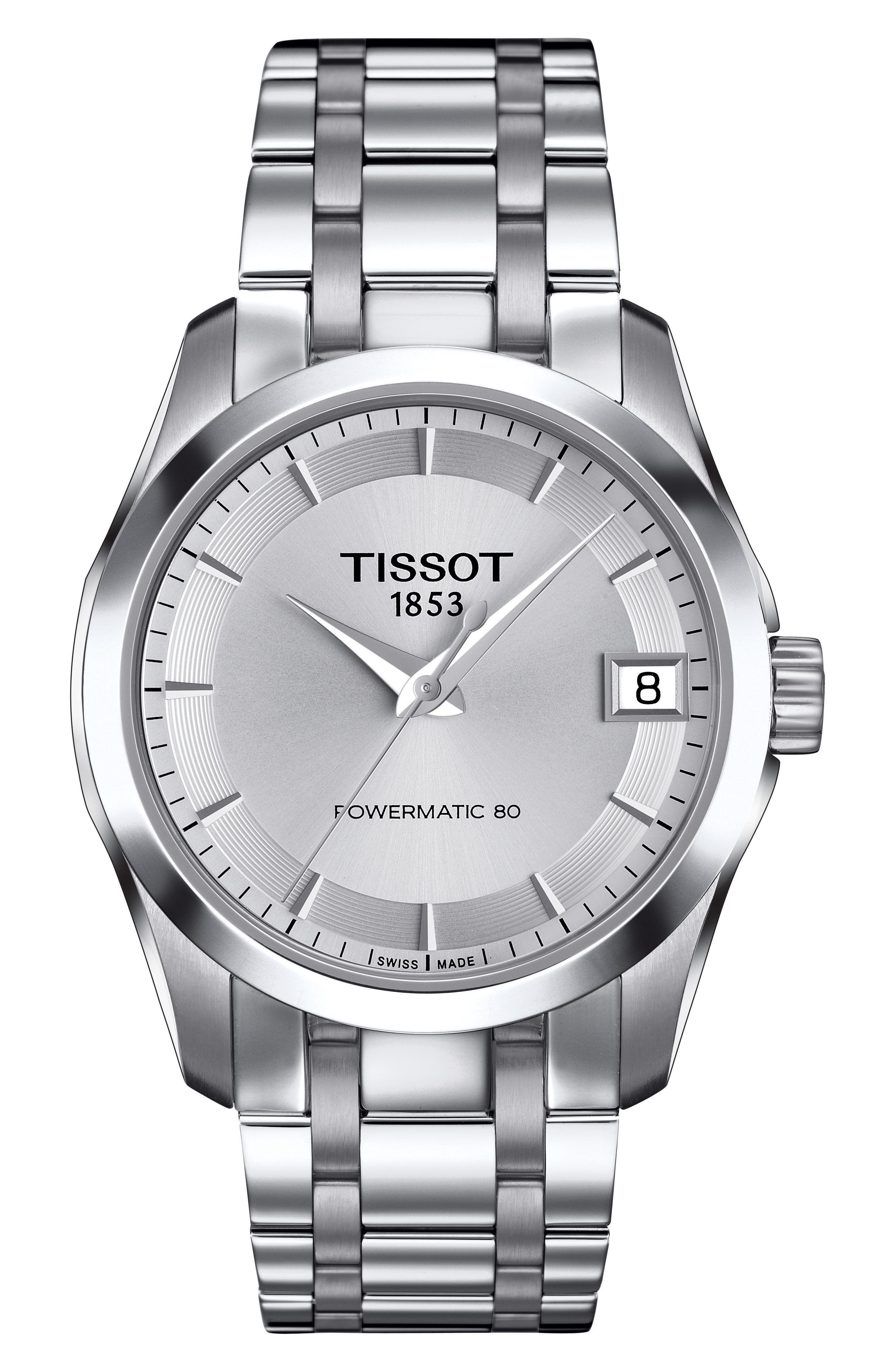 Main Image - Tissot Couturier Automatic Bracelet Watch, 32mm