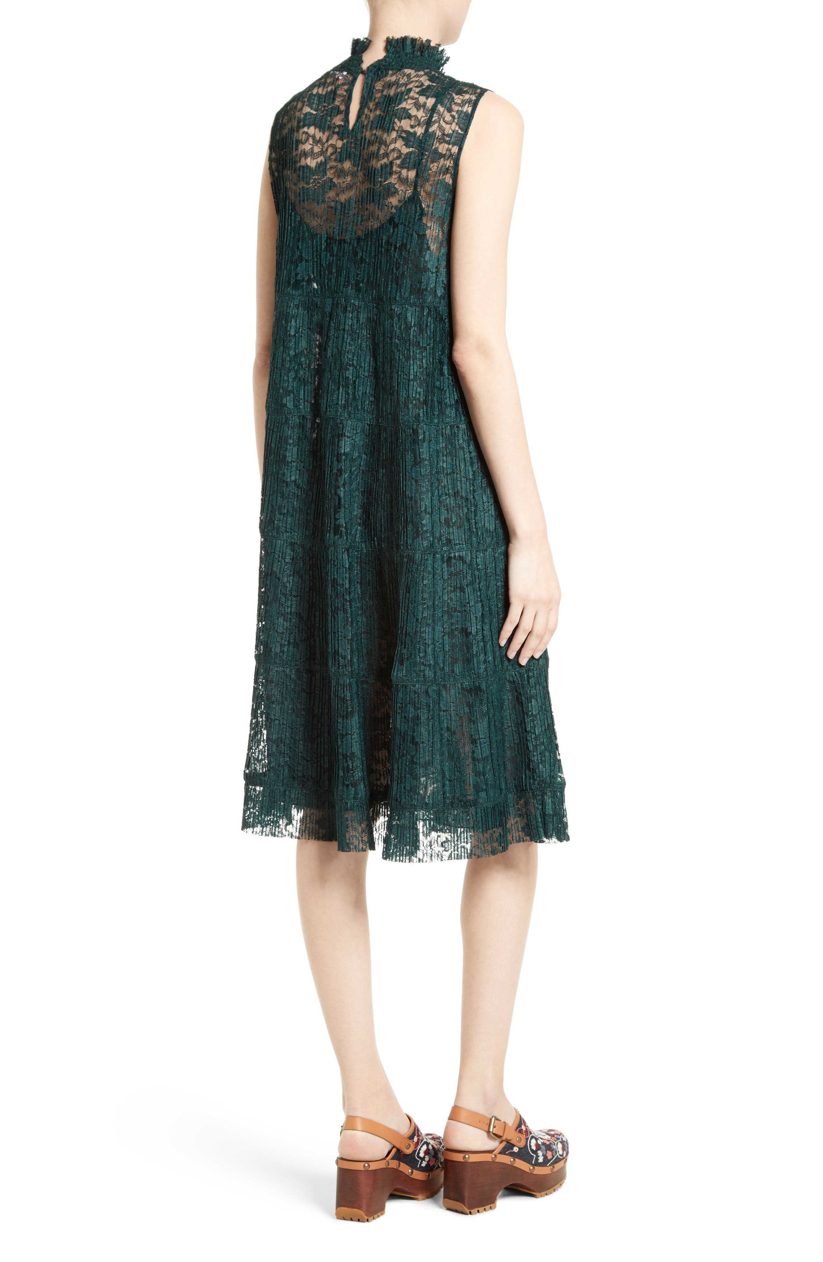 Alternate Image 2  - See by Chloé Lace Ruffle Neck Dress