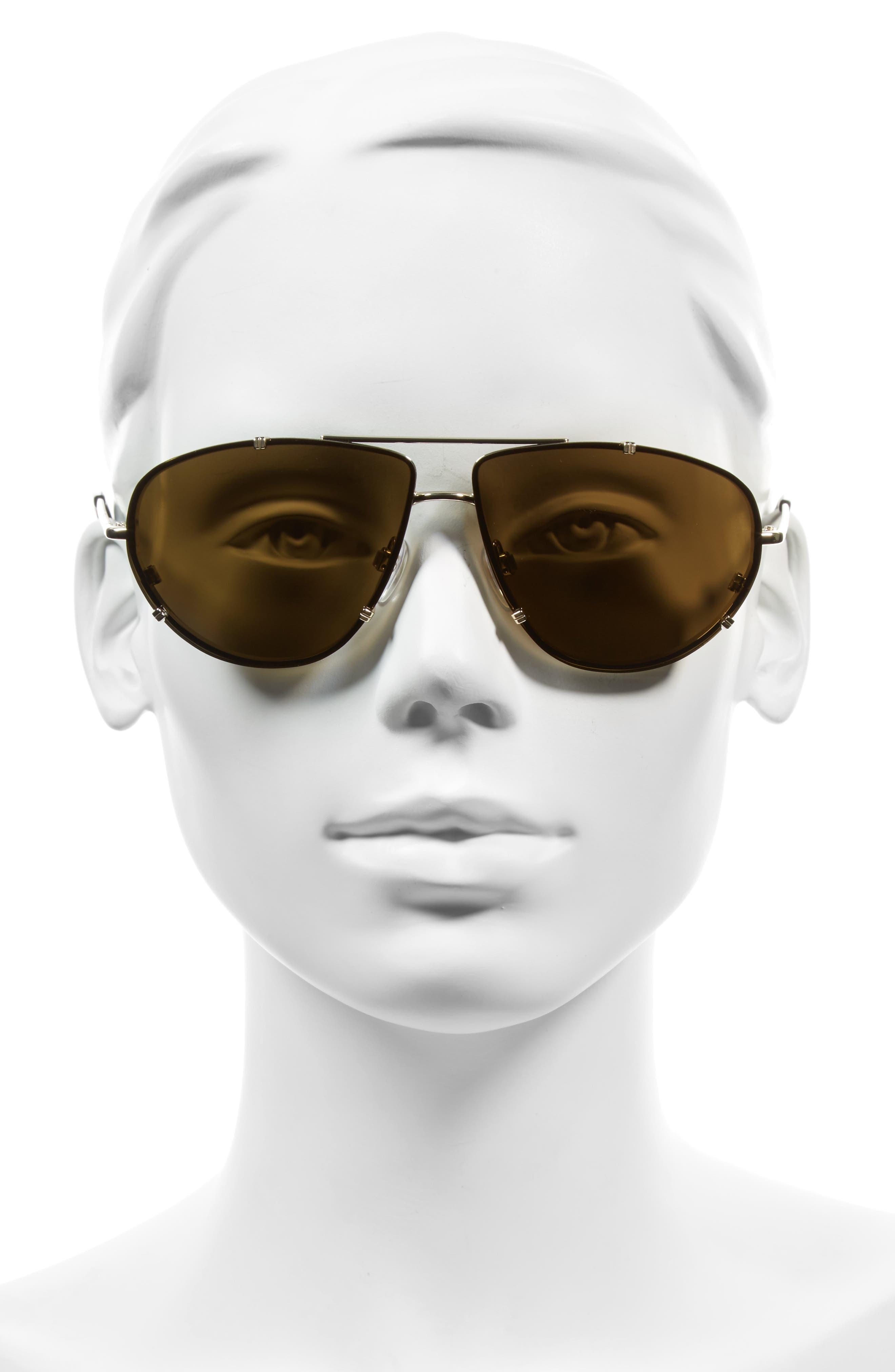 Alternate Image 2  - Balenciaga 62mm Aviator Sunglasses