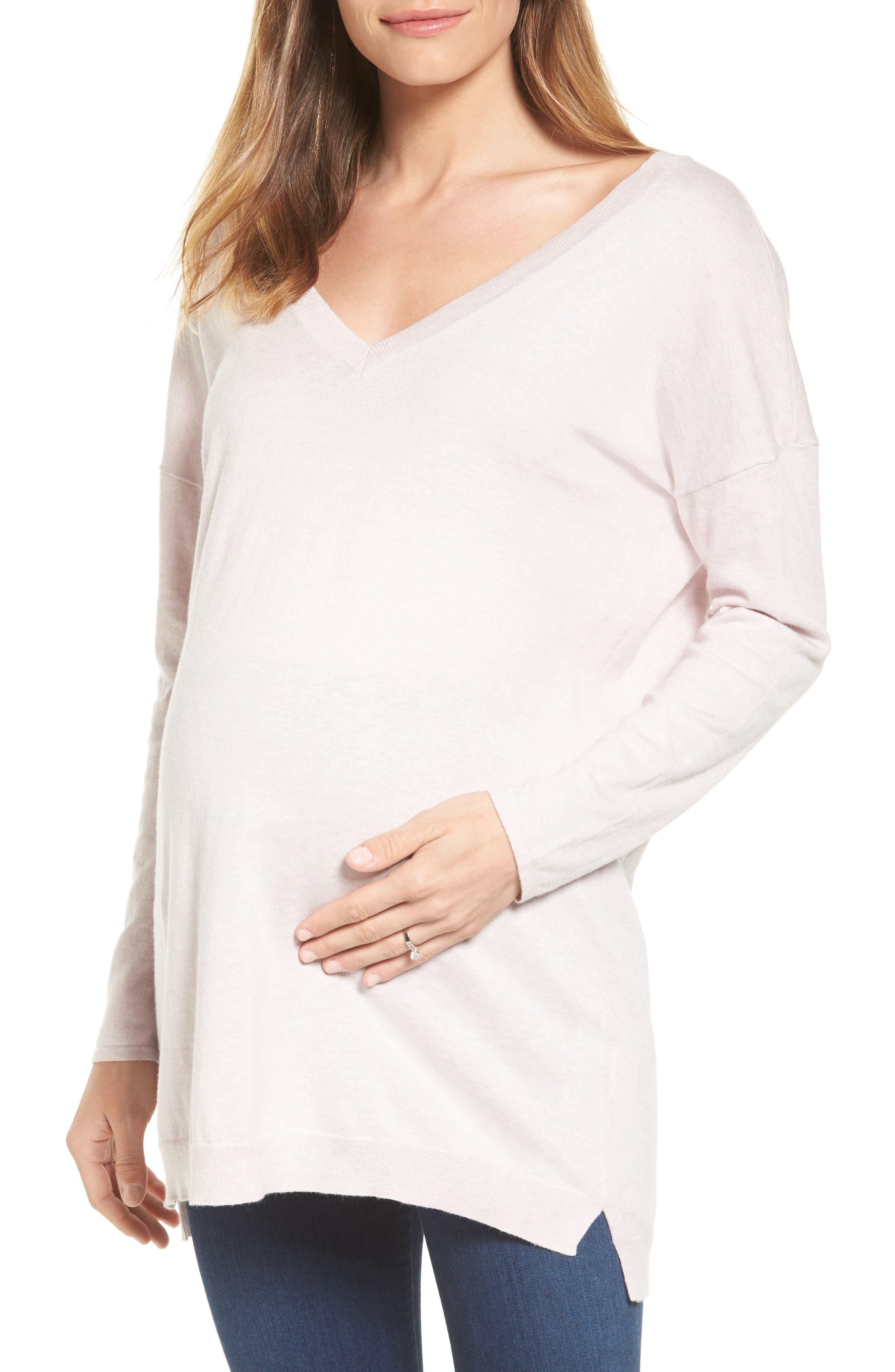 Abella Maternity Sweater,                         Main,                         color, Blush