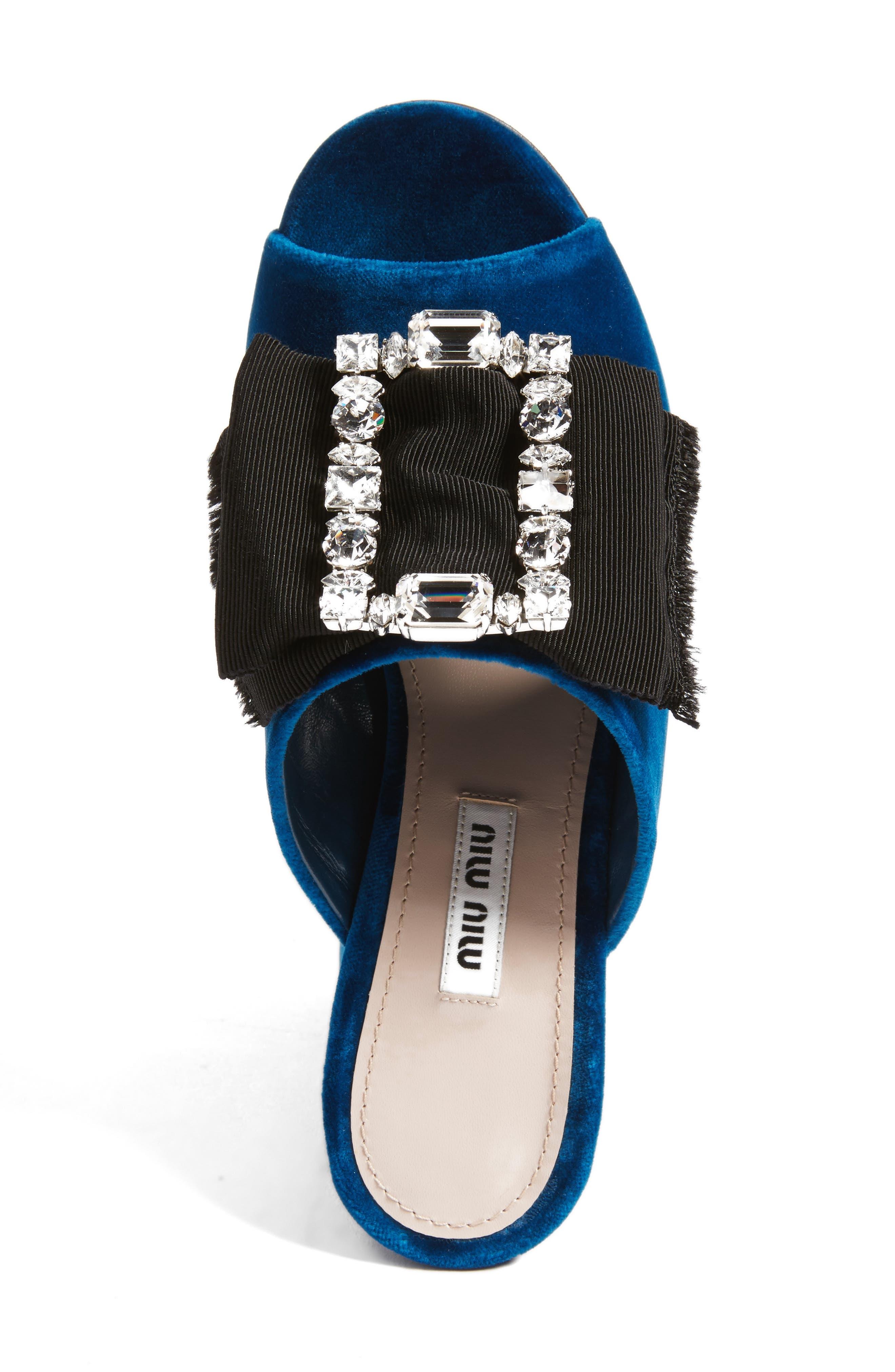 Embellished Sandal,                             Alternate thumbnail 5, color,                             Blue