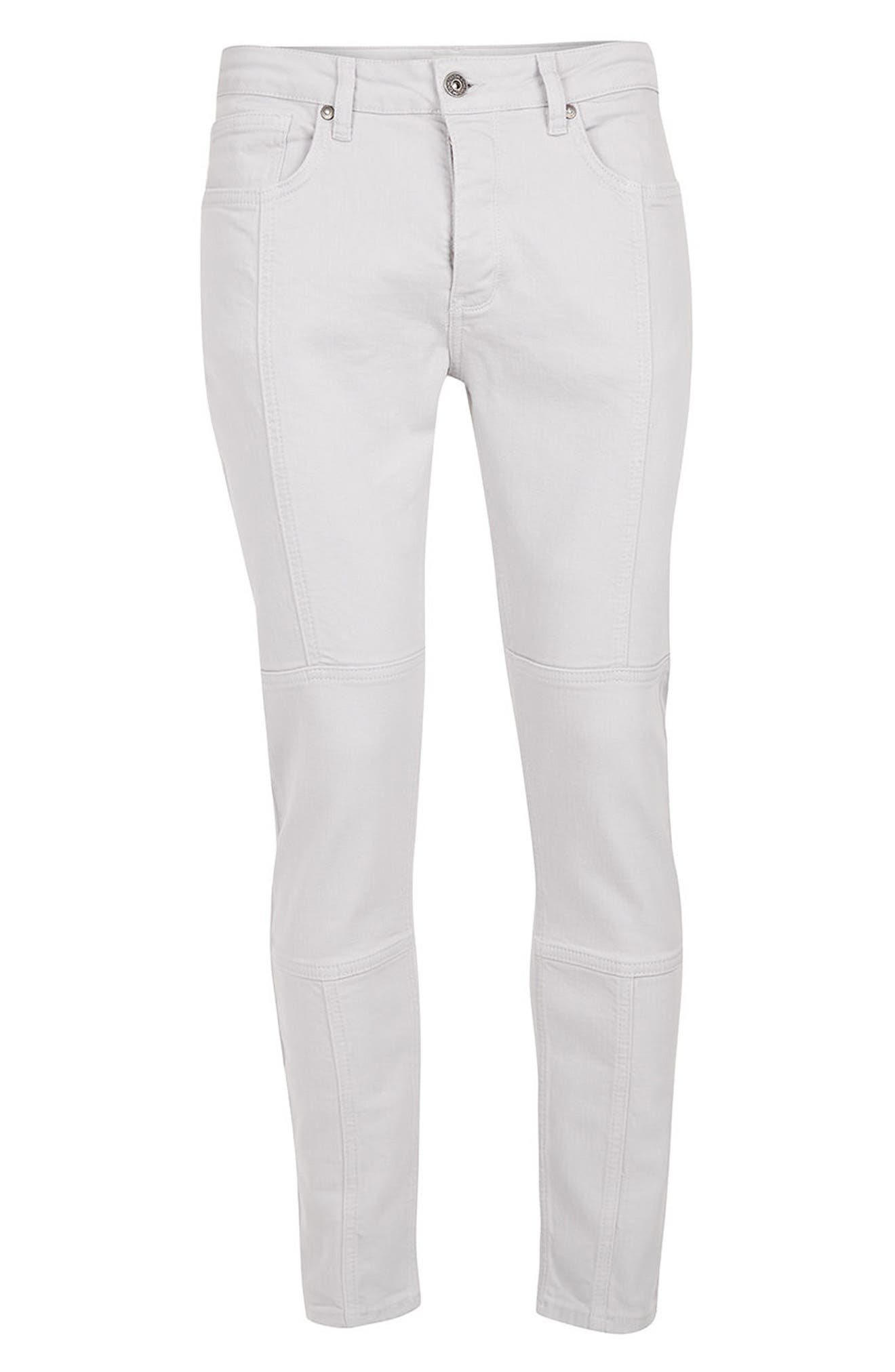 Alternate Image 6  - Topman Paneled Stretch Skinny Fit Jeans