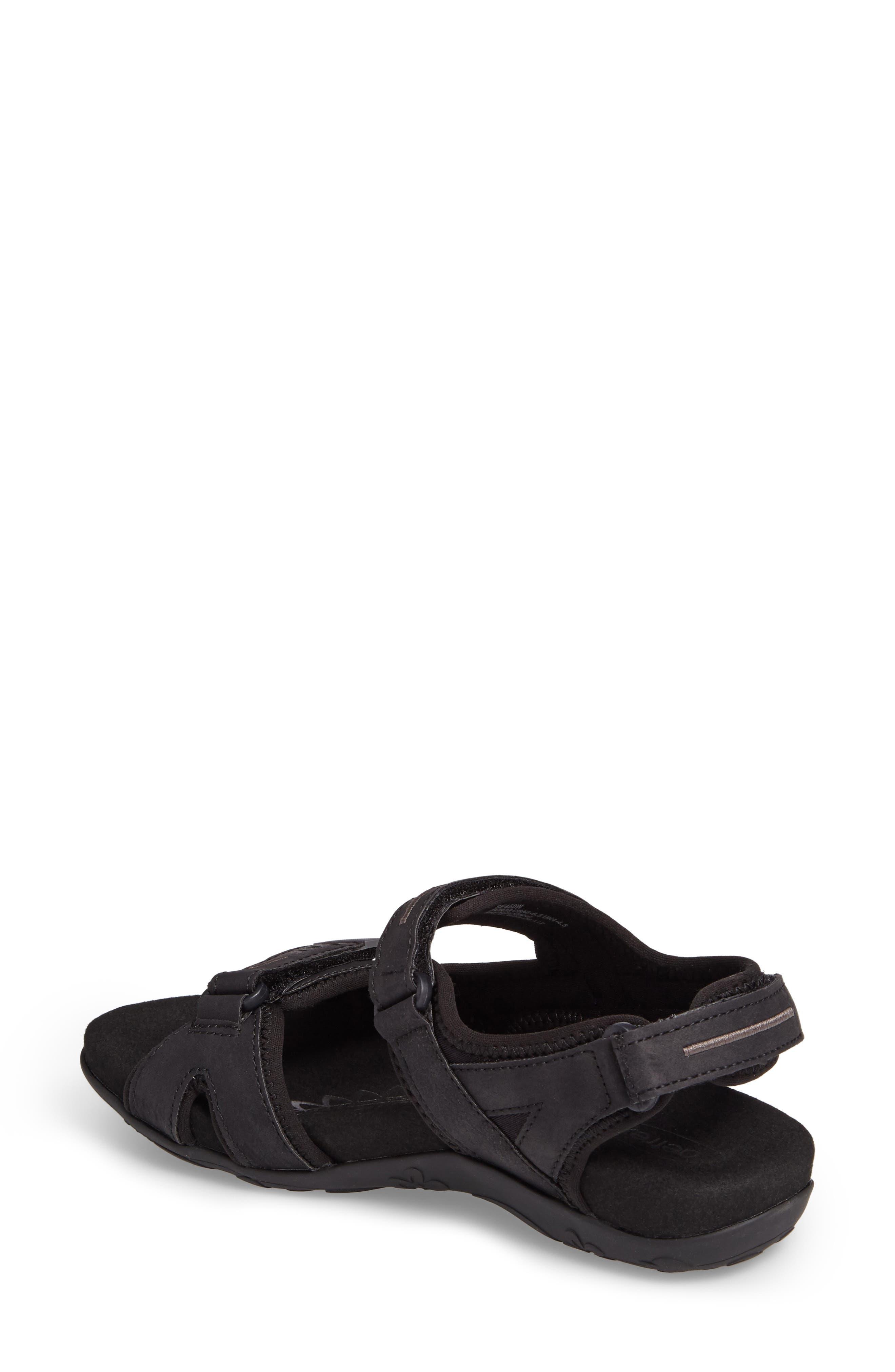 Bree Sport Sandal,                             Alternate thumbnail 2, color,                             Black Fabric
