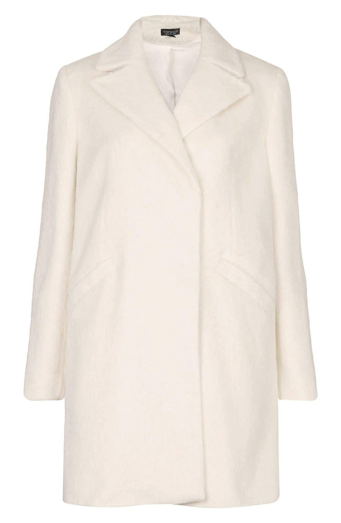 'Molly' Double Breasted Swing Coat,                             Alternate thumbnail 3, color,                             White
