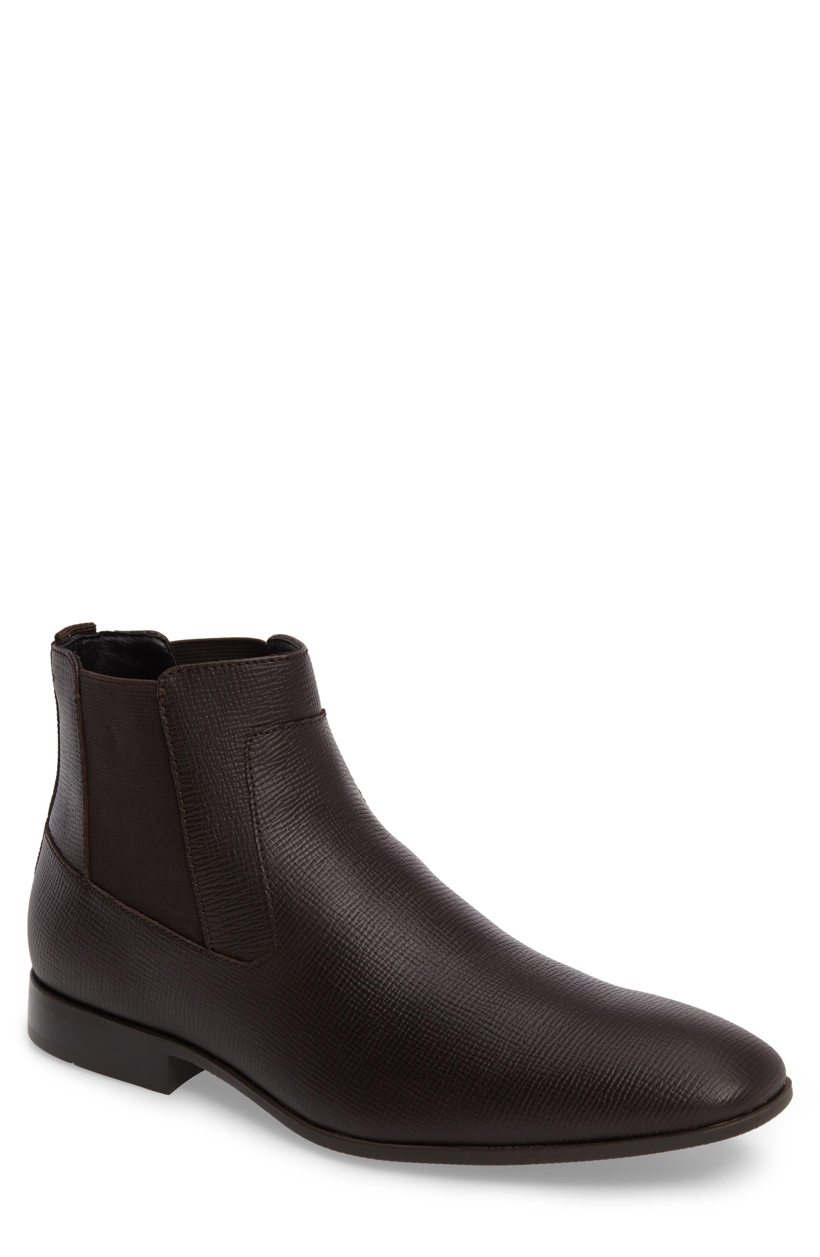 Christoff Chelsea Boot,                         Main,                         color, Dark Brown Epi Leather
