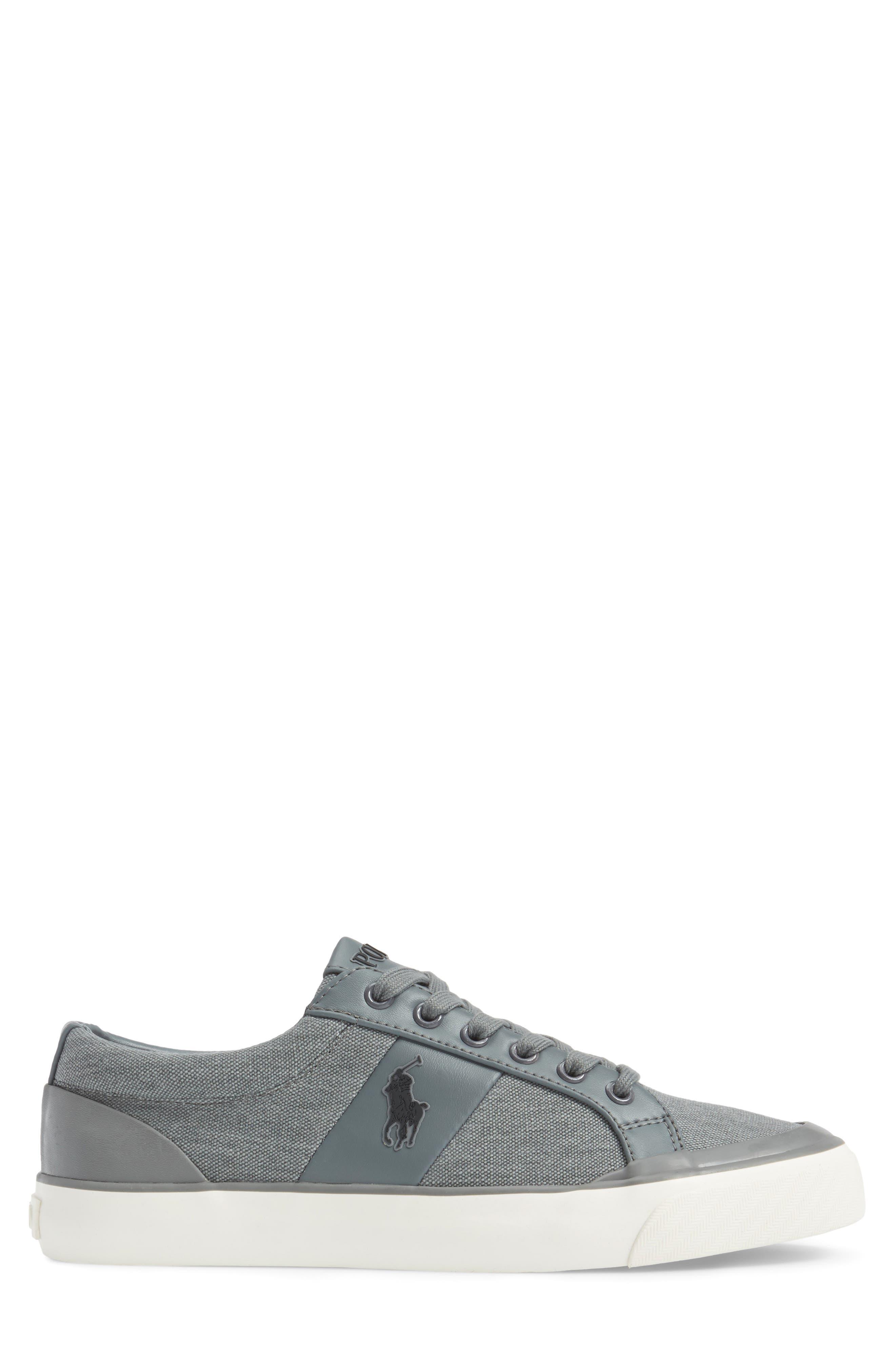 Polo Ralph Lauren Ian Sneaker,                             Alternate thumbnail 3, color,                             Slate