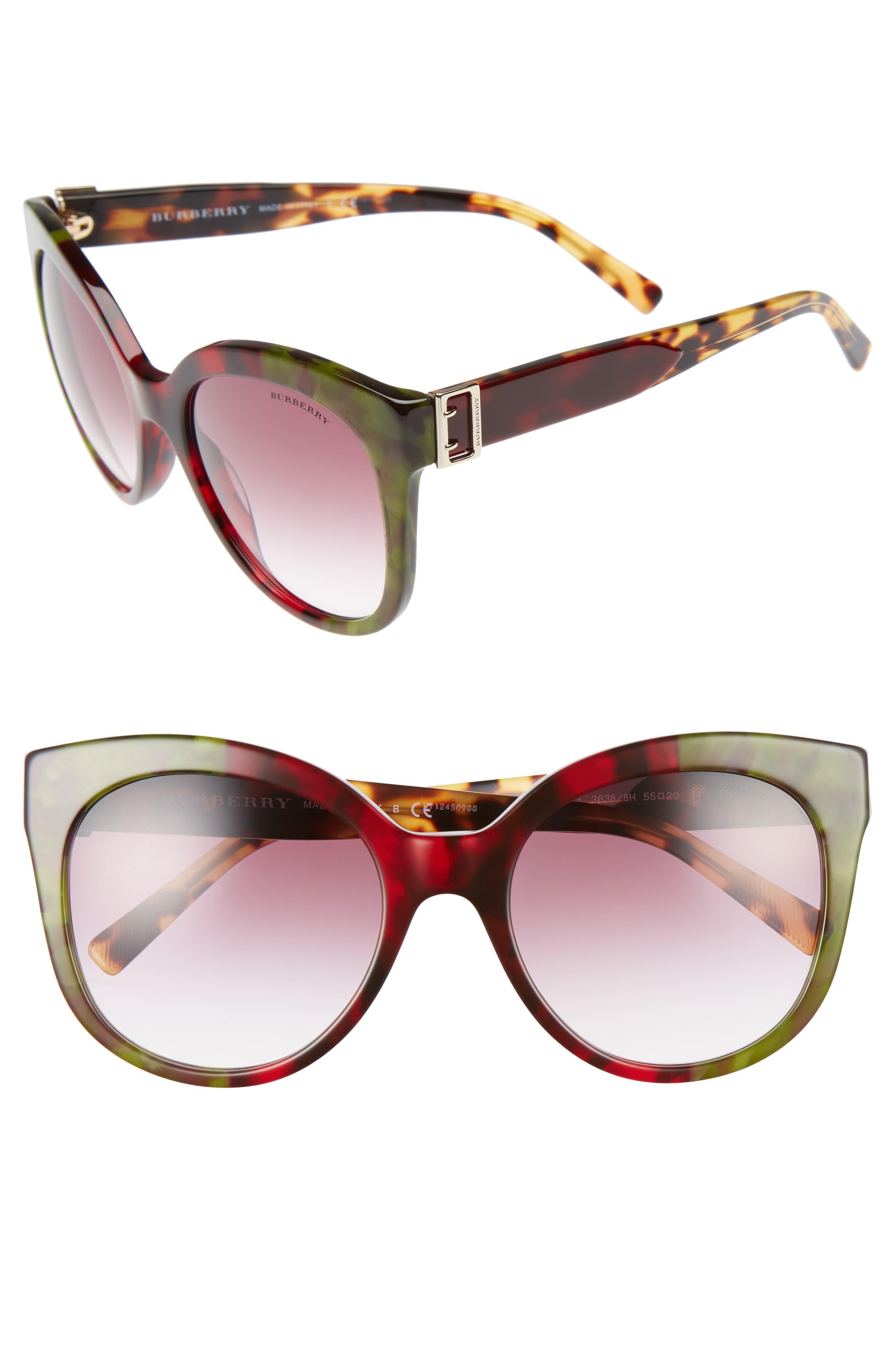 Burberry 55mm Gradient Cat Eye Sunglasses