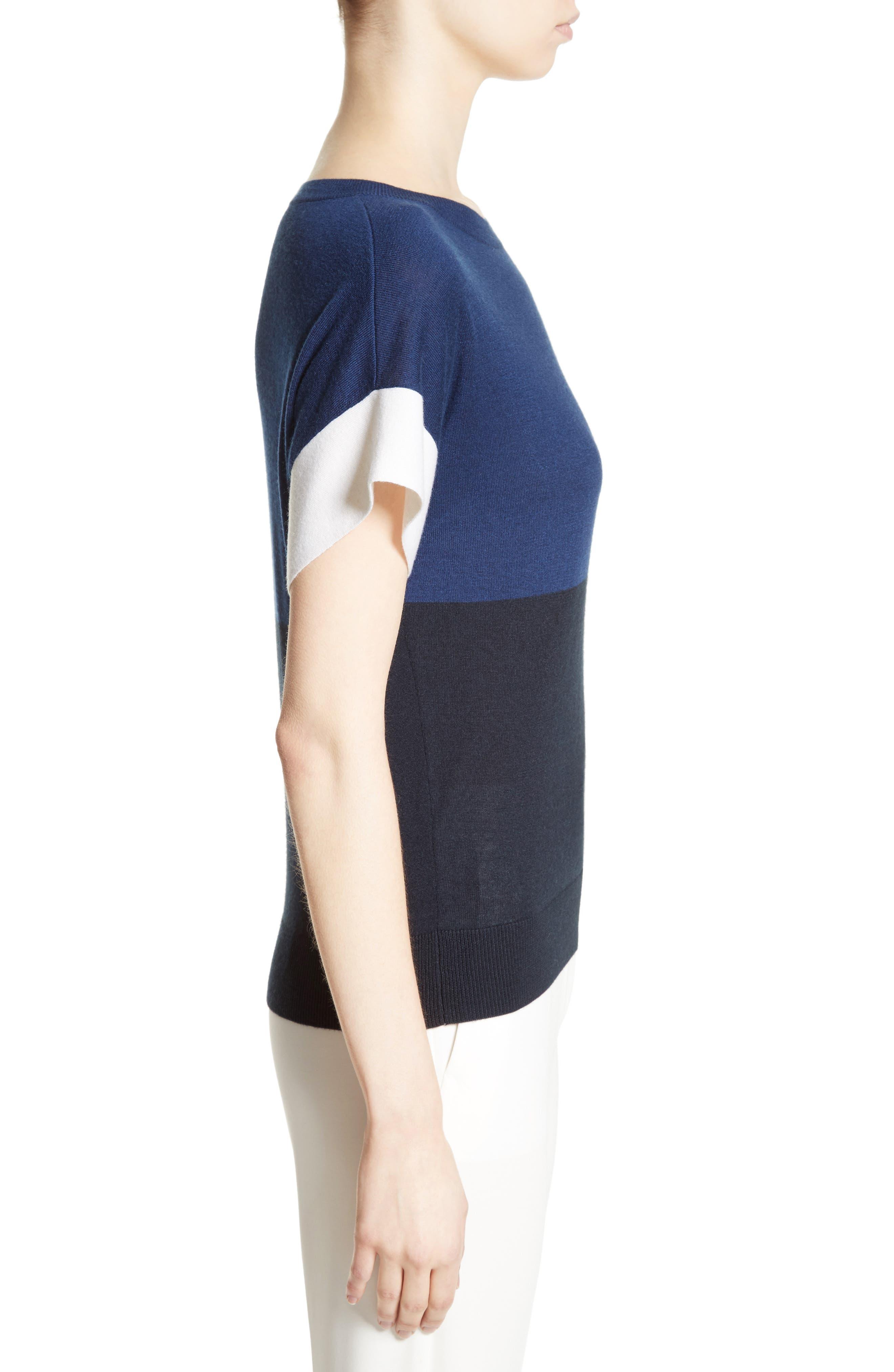 Colimbo Silk & Cashmere Top,                             Alternate thumbnail 4, color,                             Ultra Marine