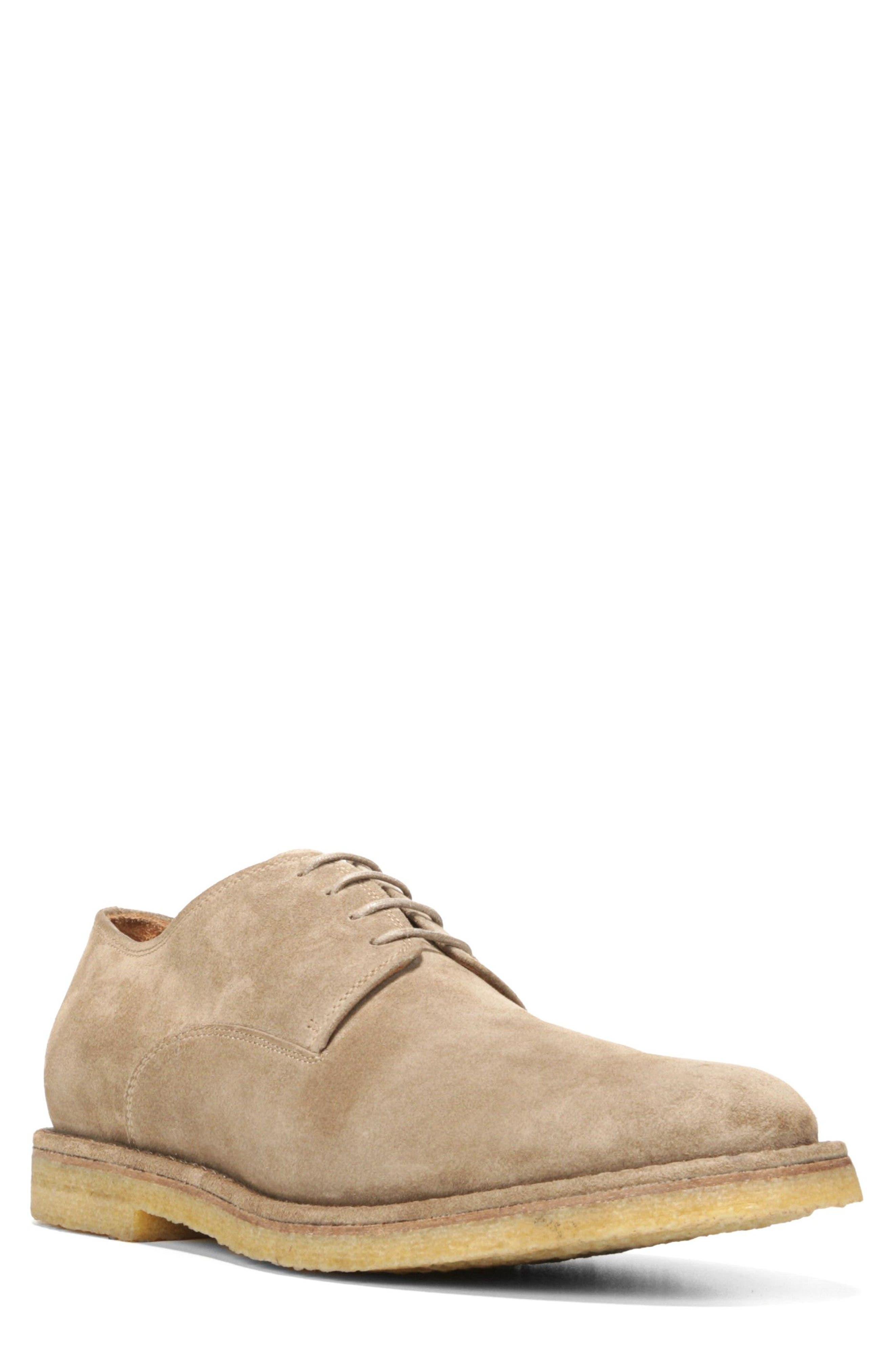 Stetson Buck Shoe,                         Main,                         color, Flint Suede
