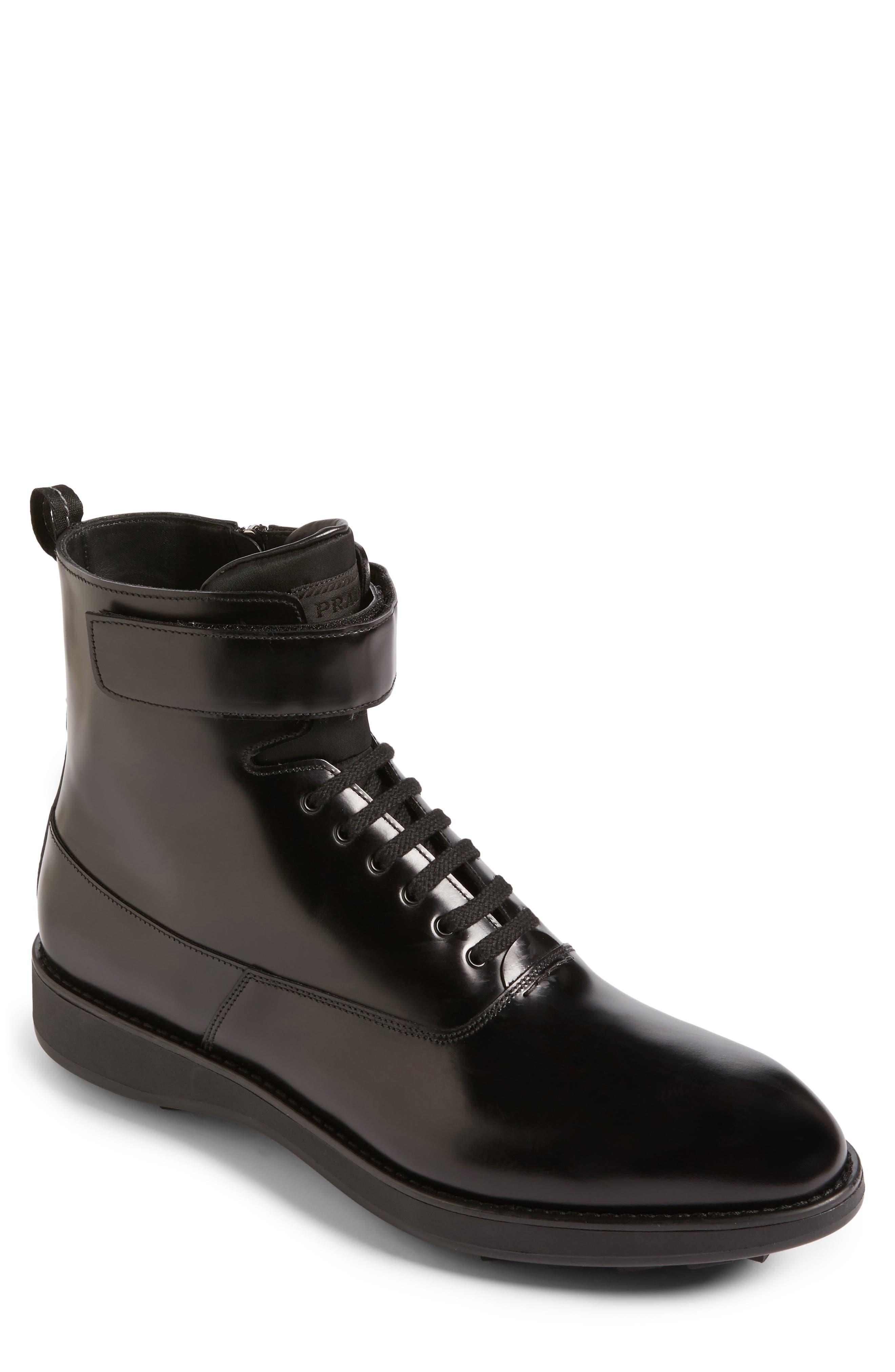 Prada Plain Toe Boot (Men)