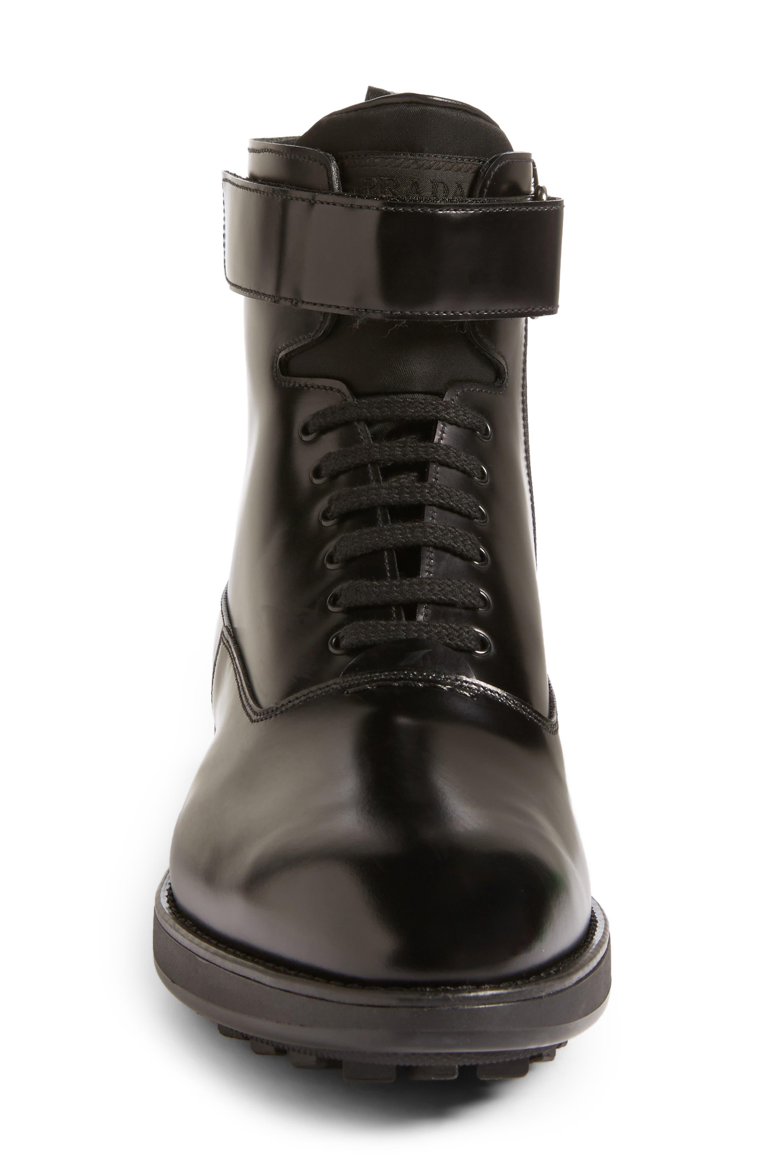 Plain Toe Boot,                             Alternate thumbnail 4, color,                             Nero