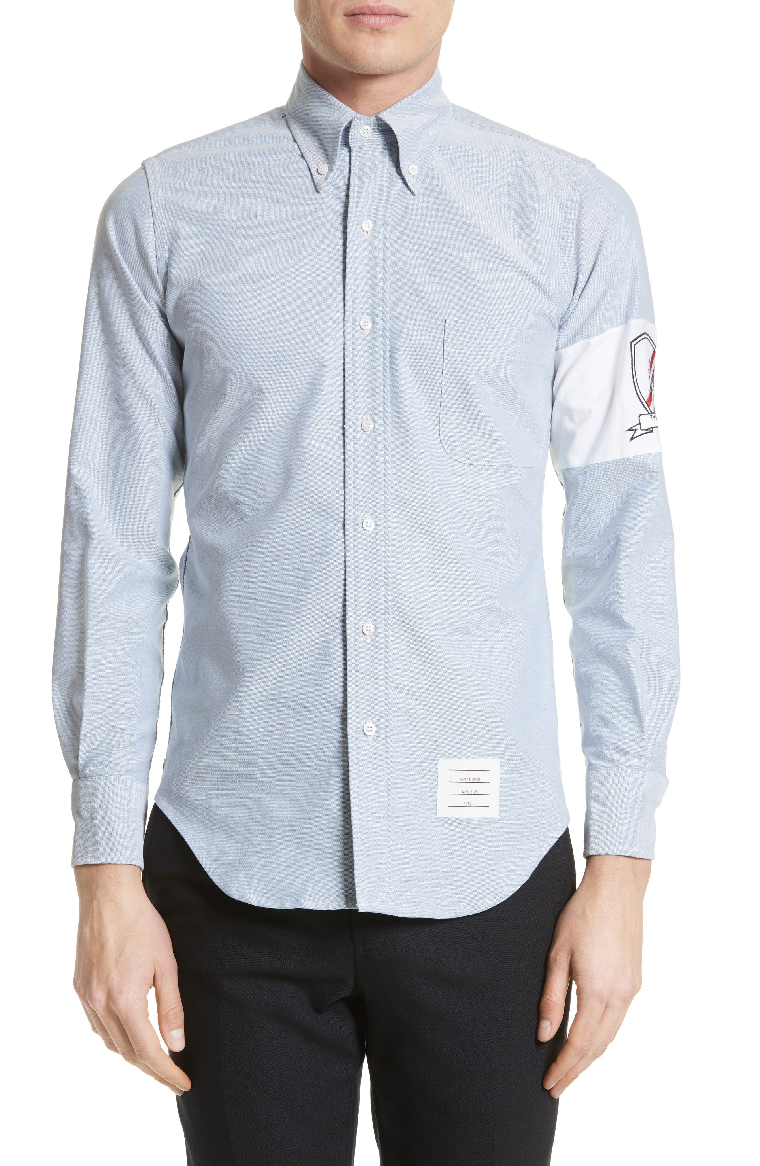 Thom Browne Embroidered Arm Band Sport Shirt
