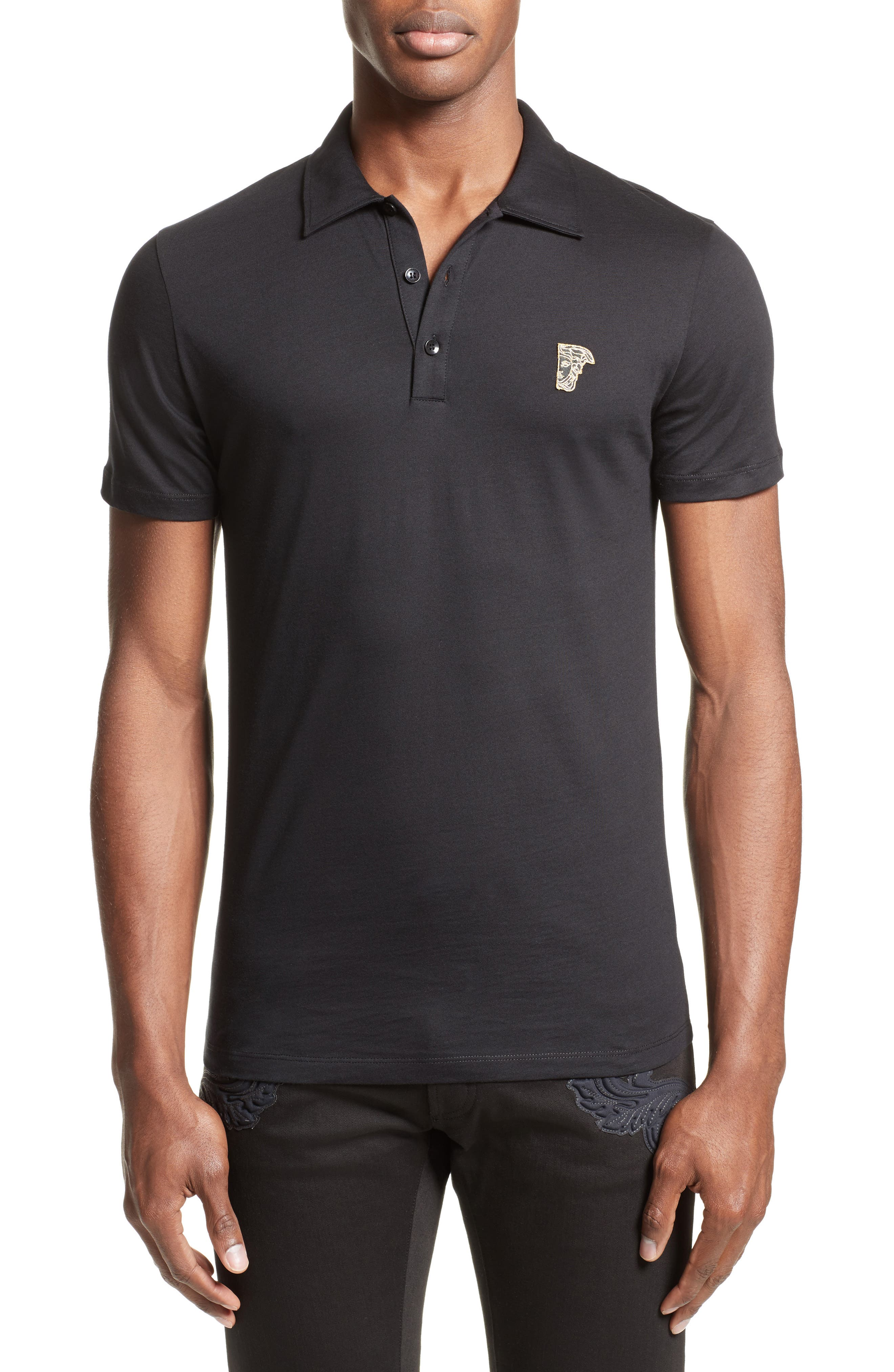 Alternate Image 1 Selected - Versace Collection Trim Fit Polo