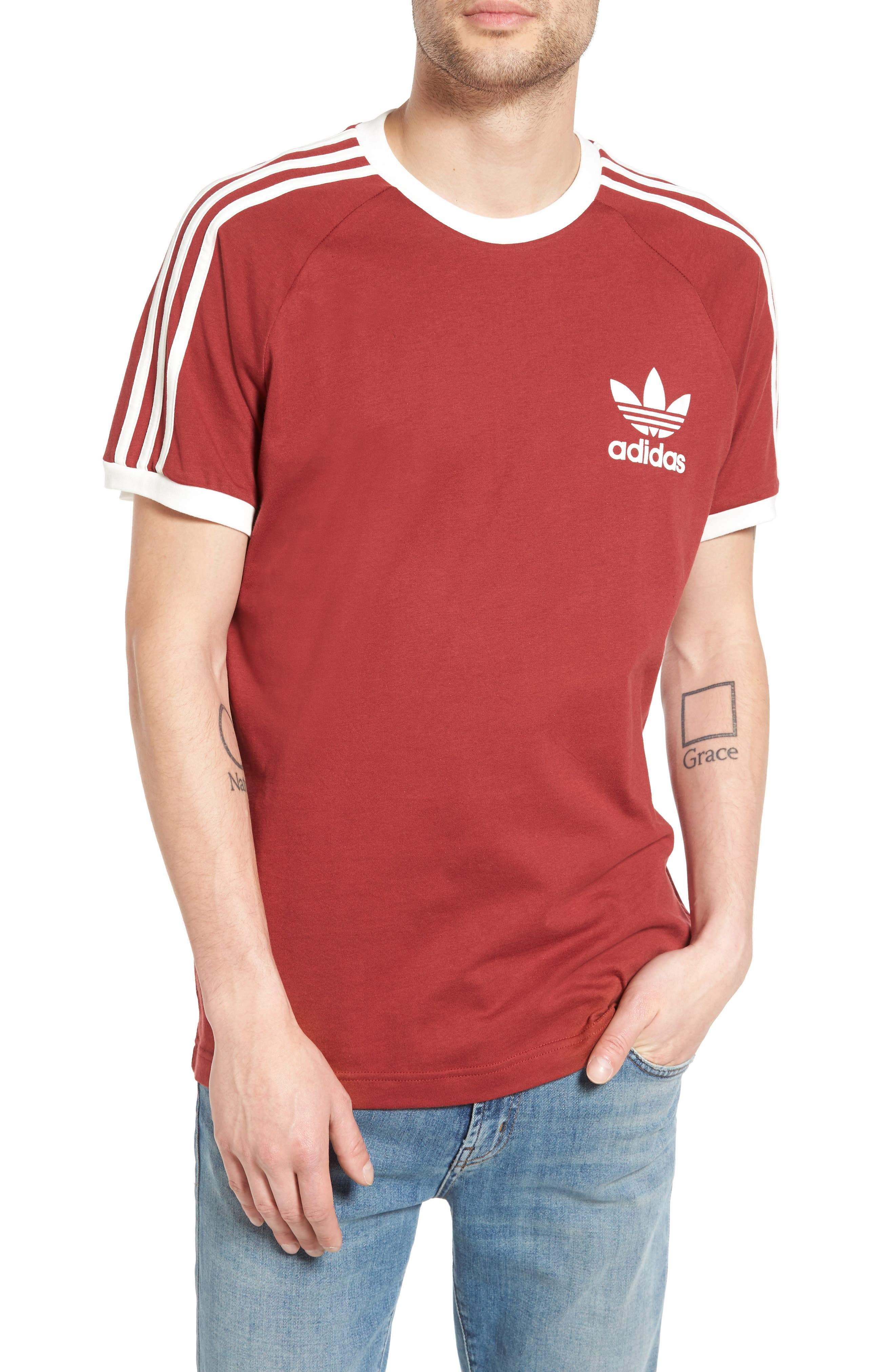 Main Image - adidas Originals 'California' Raglan Crewneck T-Shirt