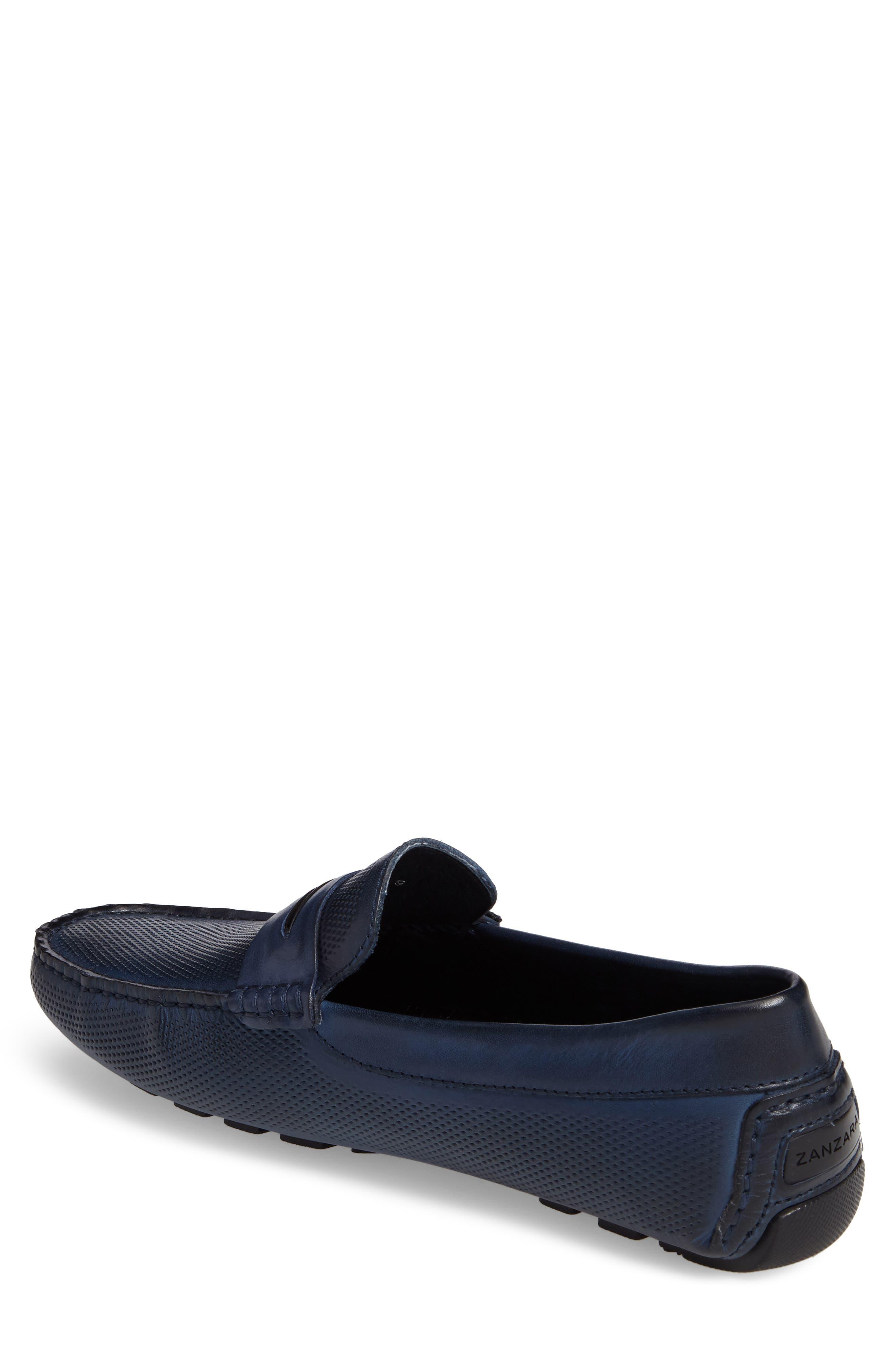 Mondrian Driving Shoe,                             Alternate thumbnail 2, color,                             Blue Leather