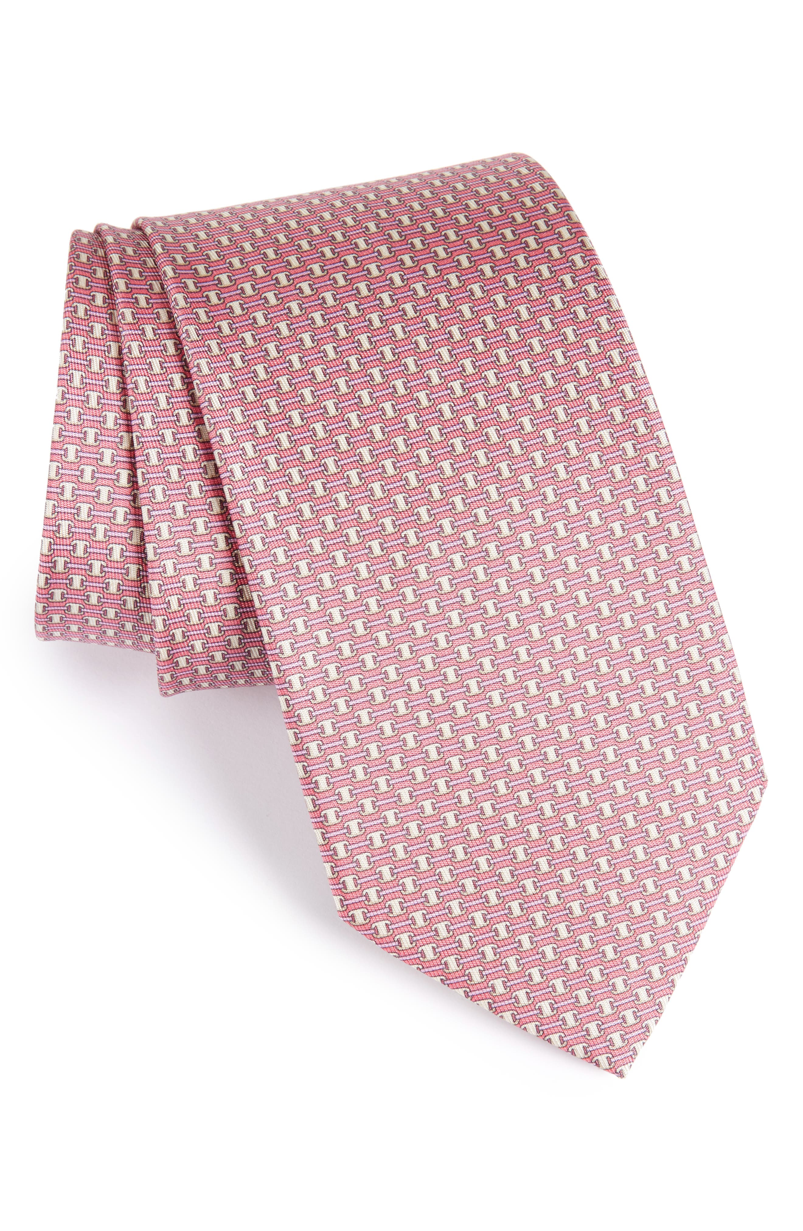 Alternate Image 1 Selected - Salvatore Ferragamo Geometric Silk Tie