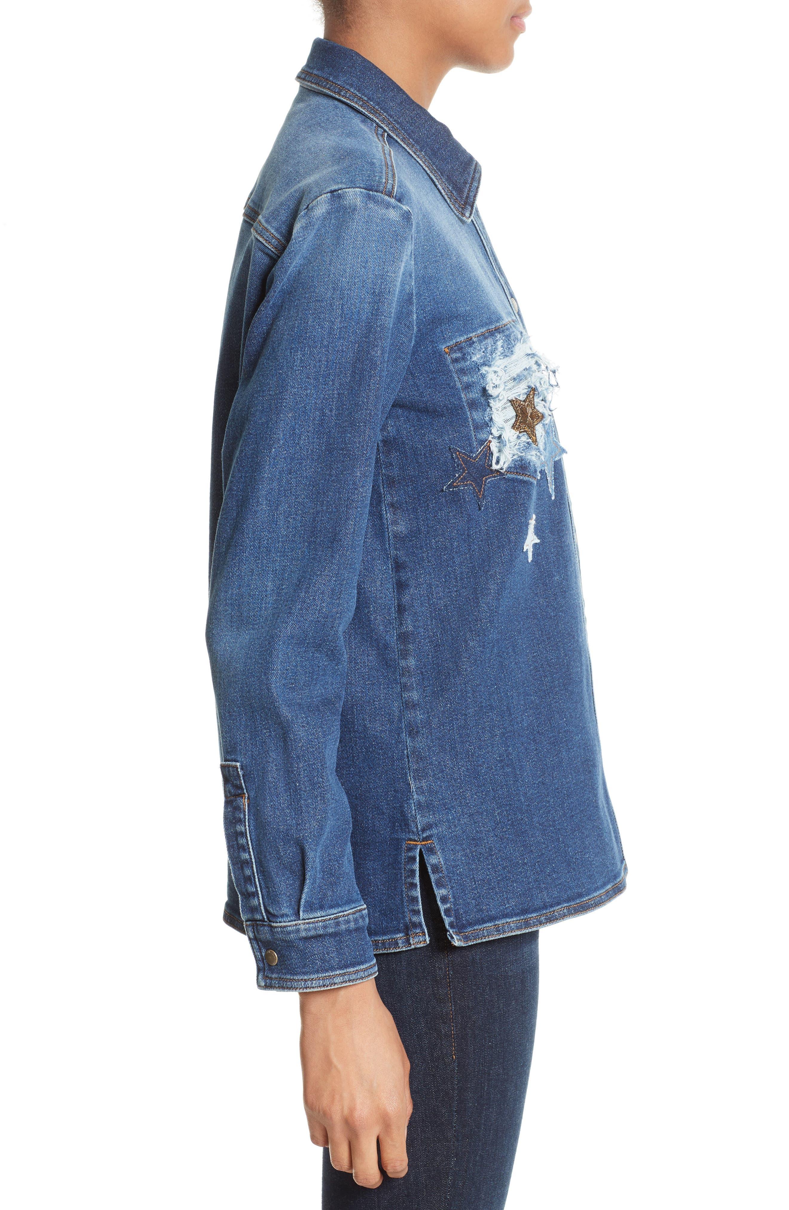 Alternate Image 3  - RED Valentino Stone Washed Denim Jacket