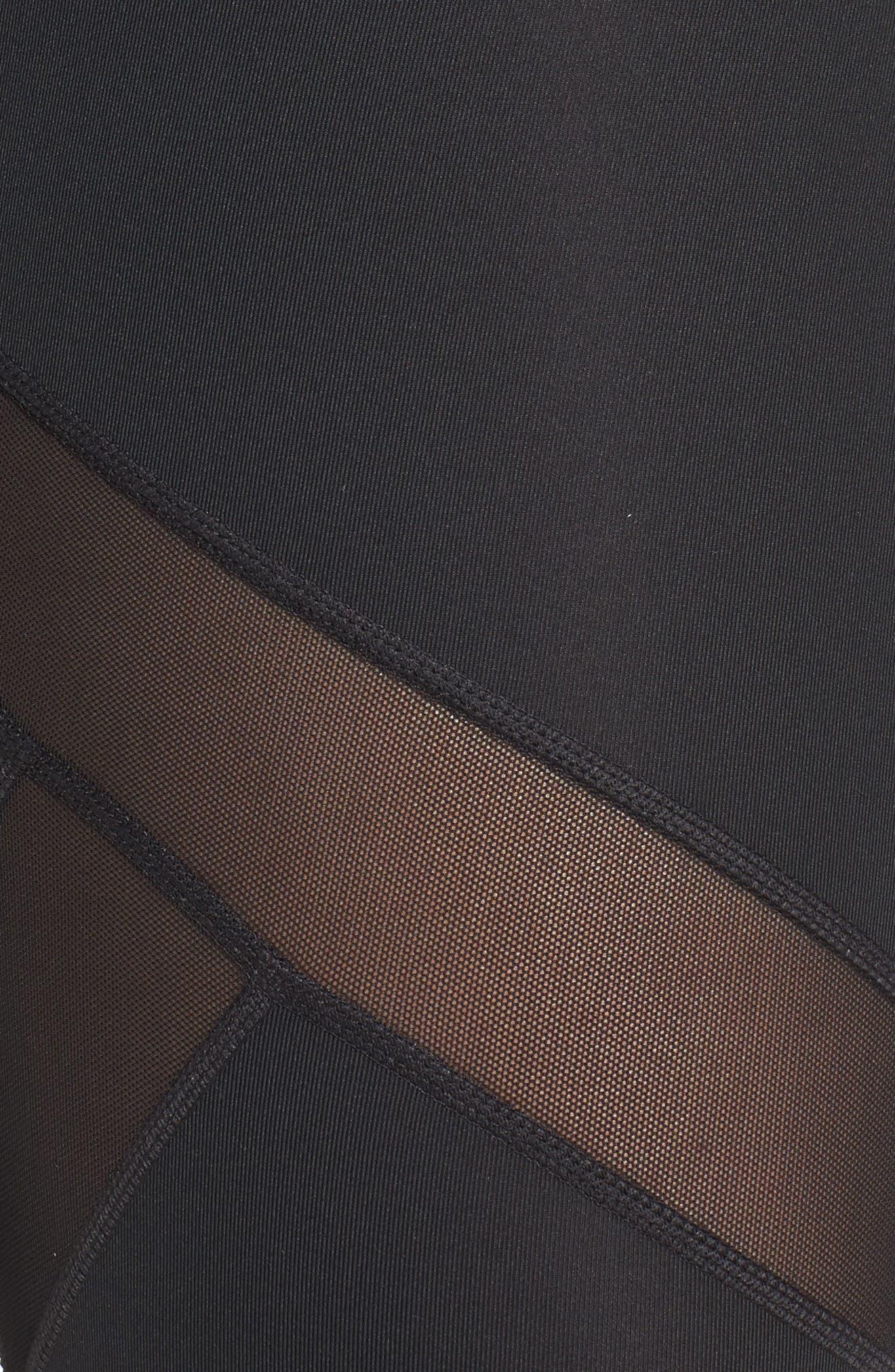 Sprint Crop Leggings,                             Alternate thumbnail 4, color,                             Black