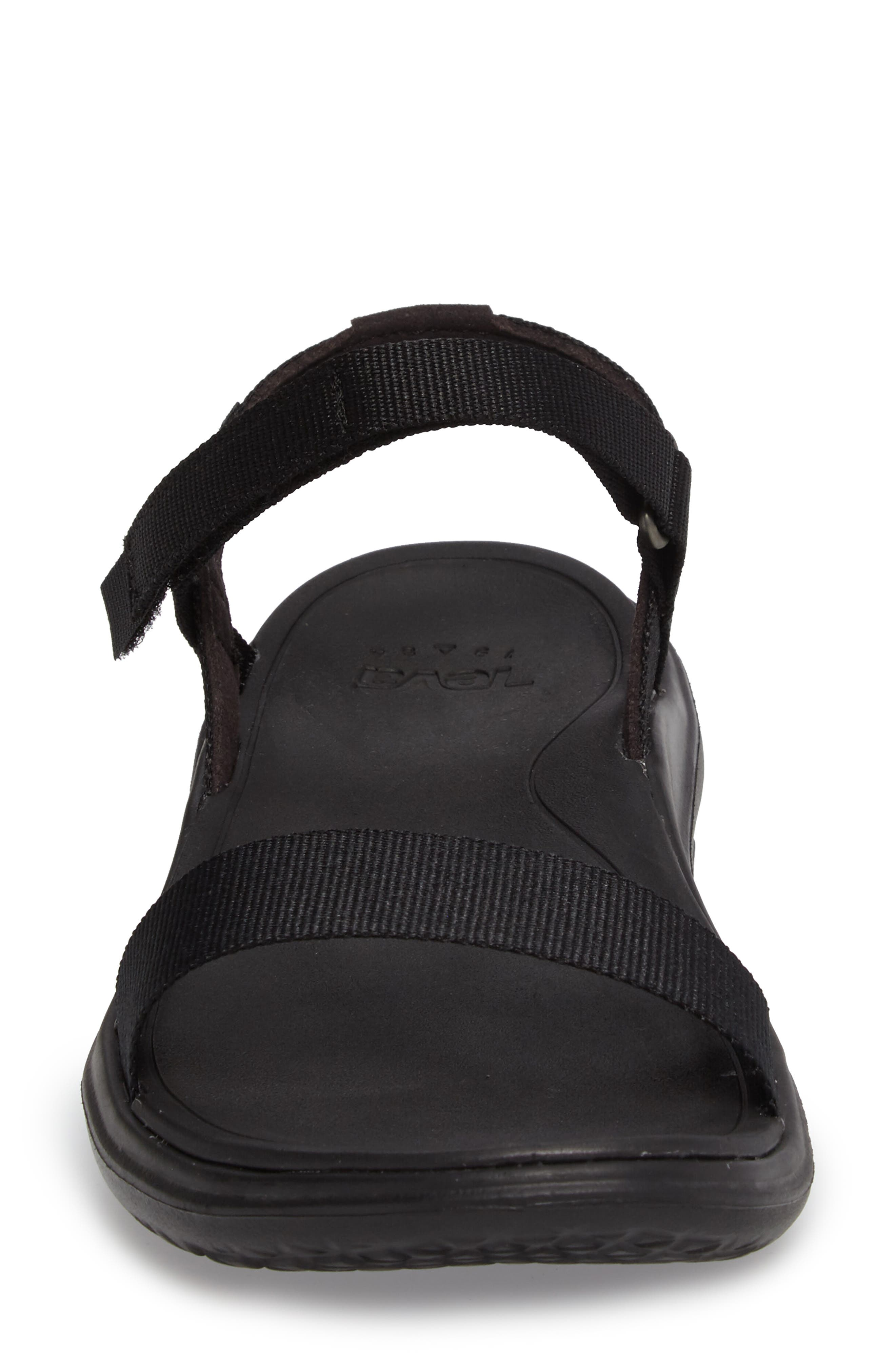 Terra Float Nova Sandal,                             Alternate thumbnail 4, color,                             Black Fabric