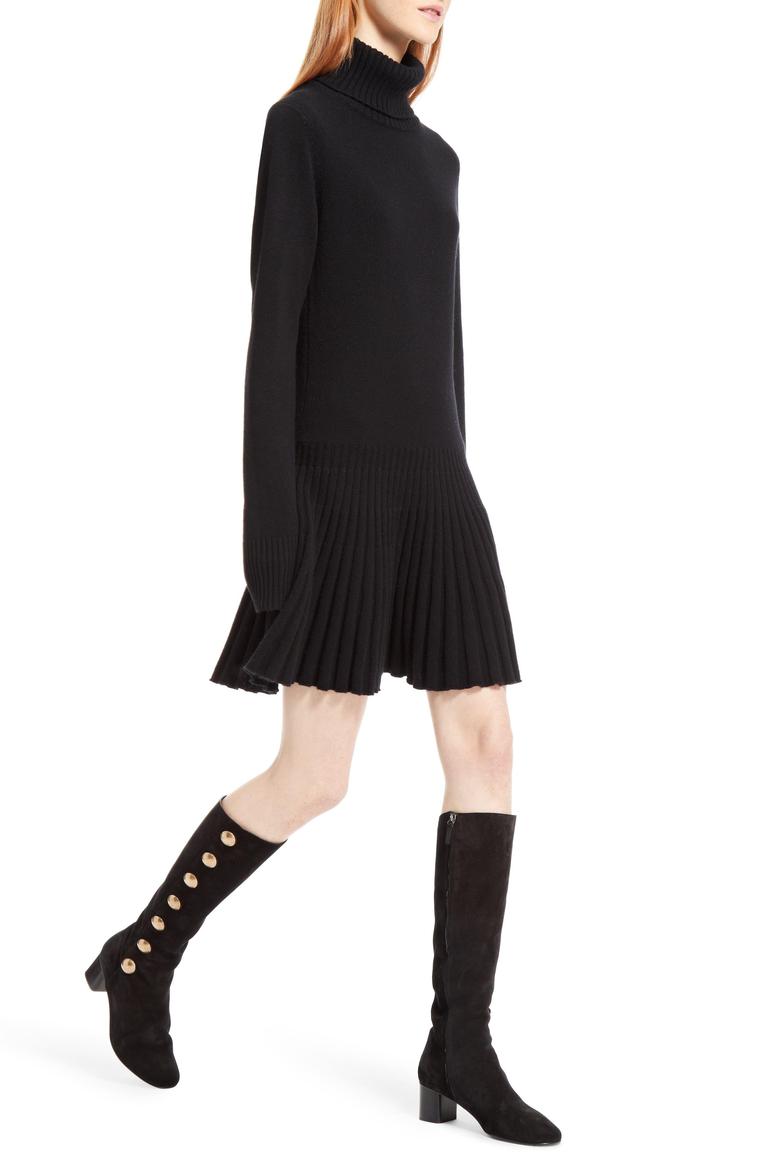 Alternate Image 5  - Chloé Cashmere Pleated Turtleneck Dress