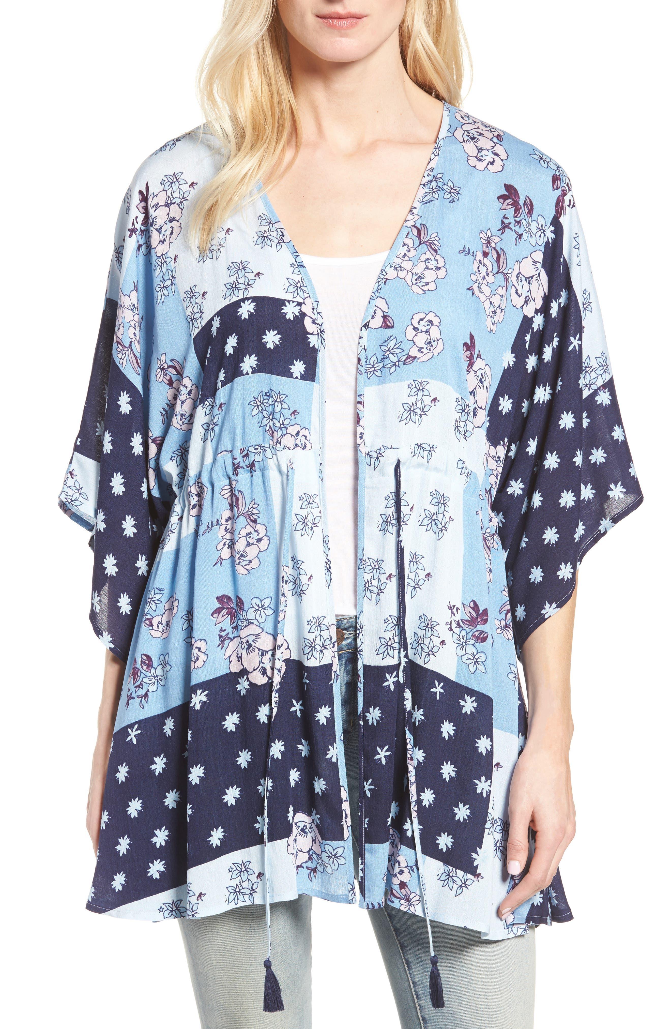 Hinge Poppy Patchwork Kimono